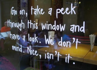 shop window signage