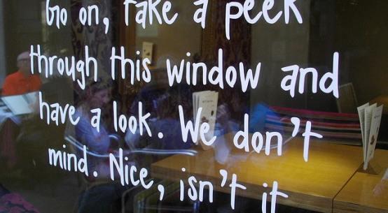shop window signage