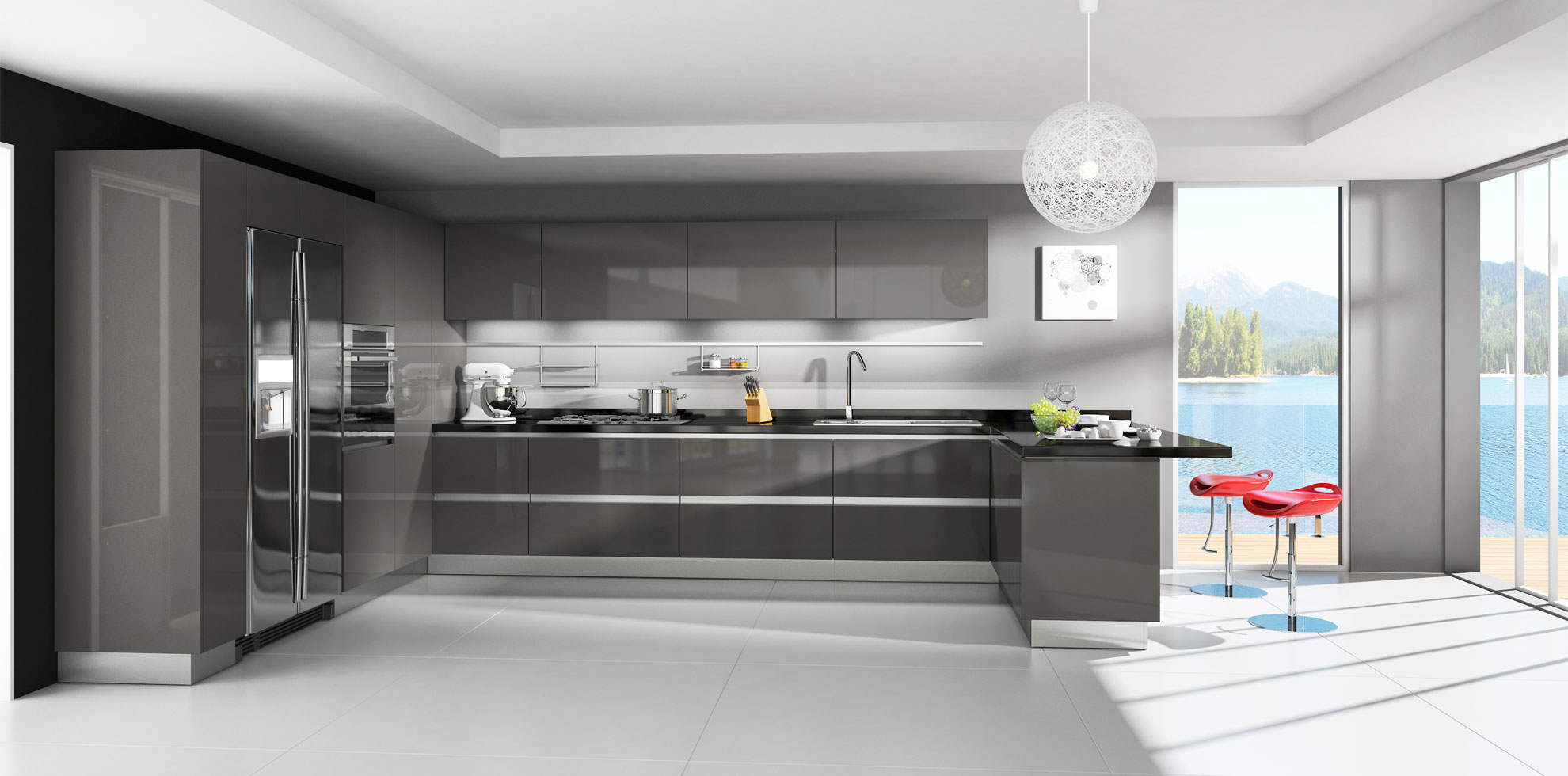 Masters Kitchens Prices Lava Grey Modern Rta Cabinets