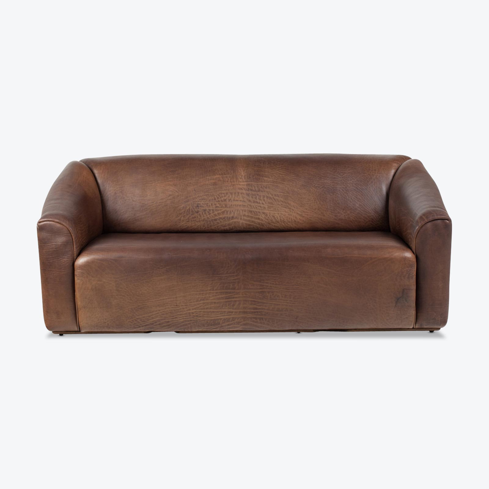 De Sede Model Ds47 3 Seat Sofa By De Sede In Thick Brown Leather 1970s Switzerland