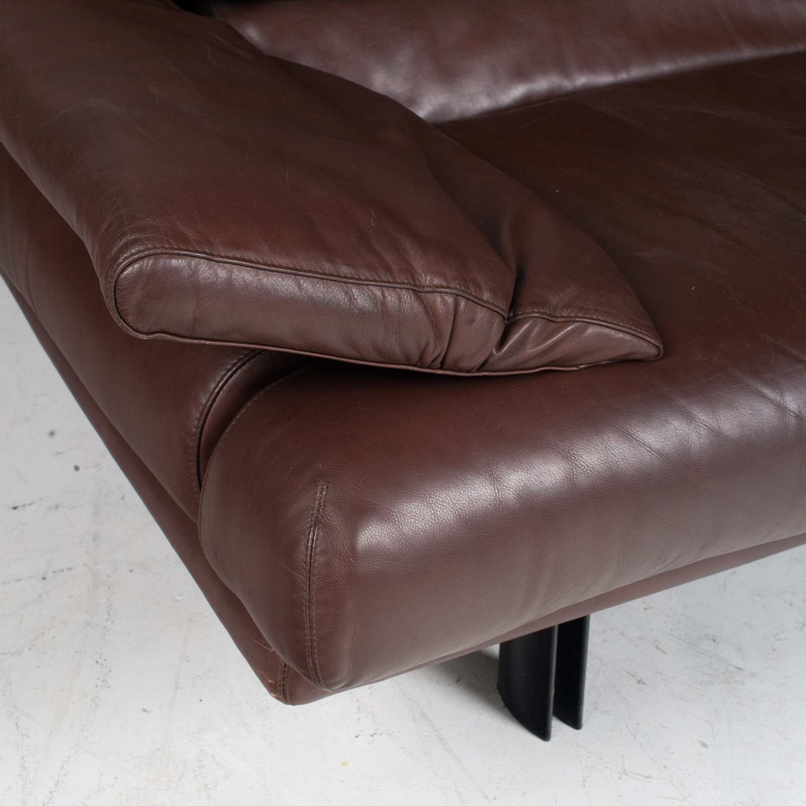 Alanda Sofa By Paolo Piva For B B Italia In Brown Leather