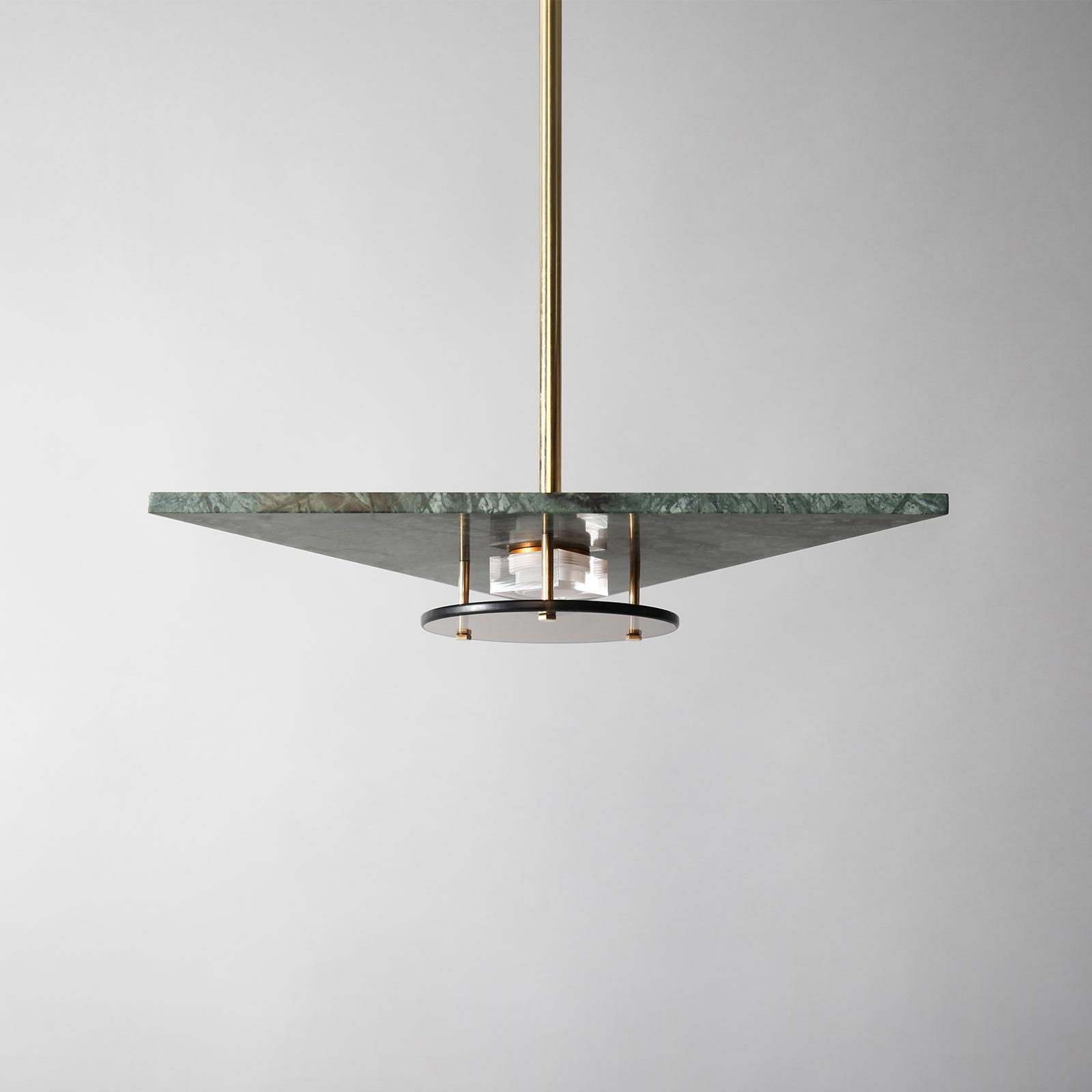 Living At Home März 2018 Bermuda Pendant Light In Moss Green Marble And Brass By Marz Designs 2018 Australia