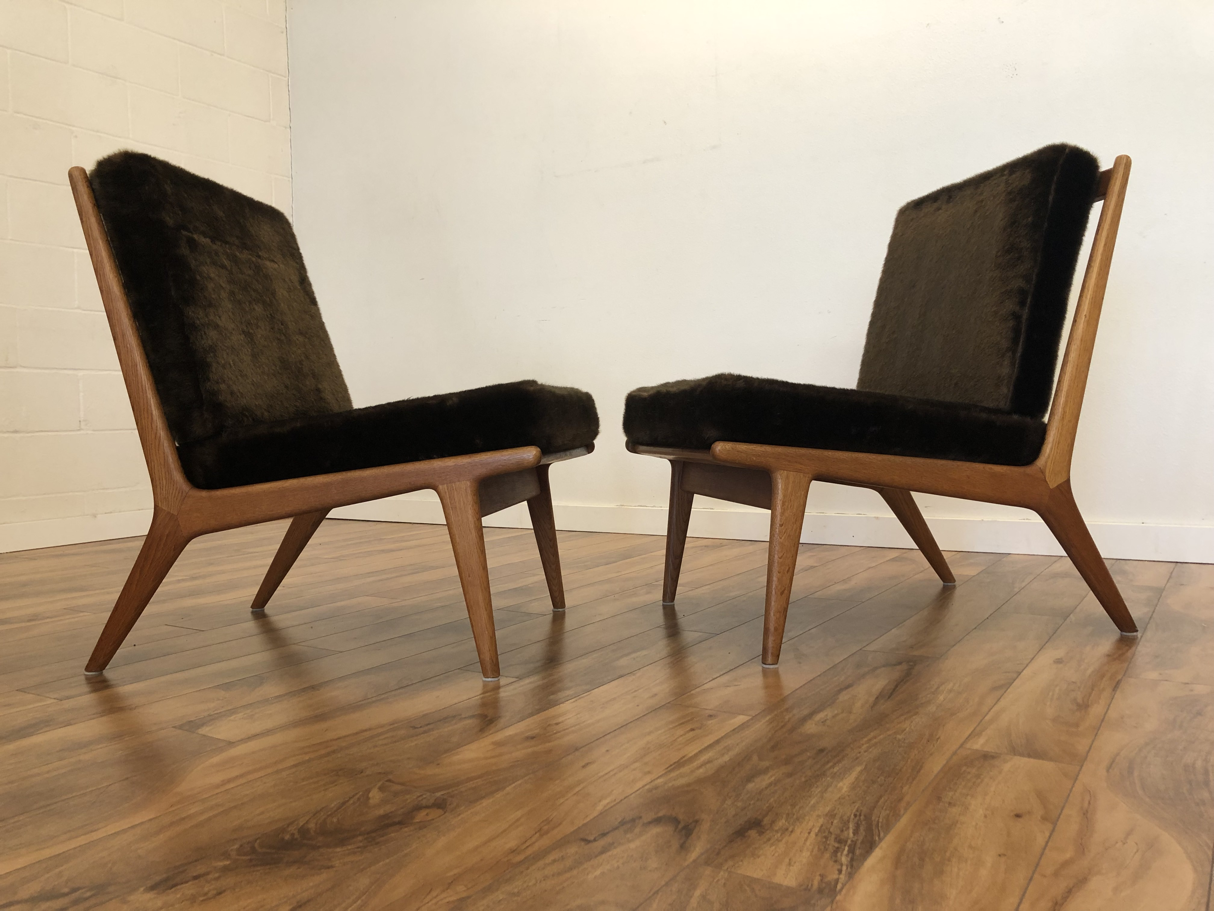 Möbel Carlsson Sold Jo Carlsson Teak Slipper Chairs Pair Modern To Vintage