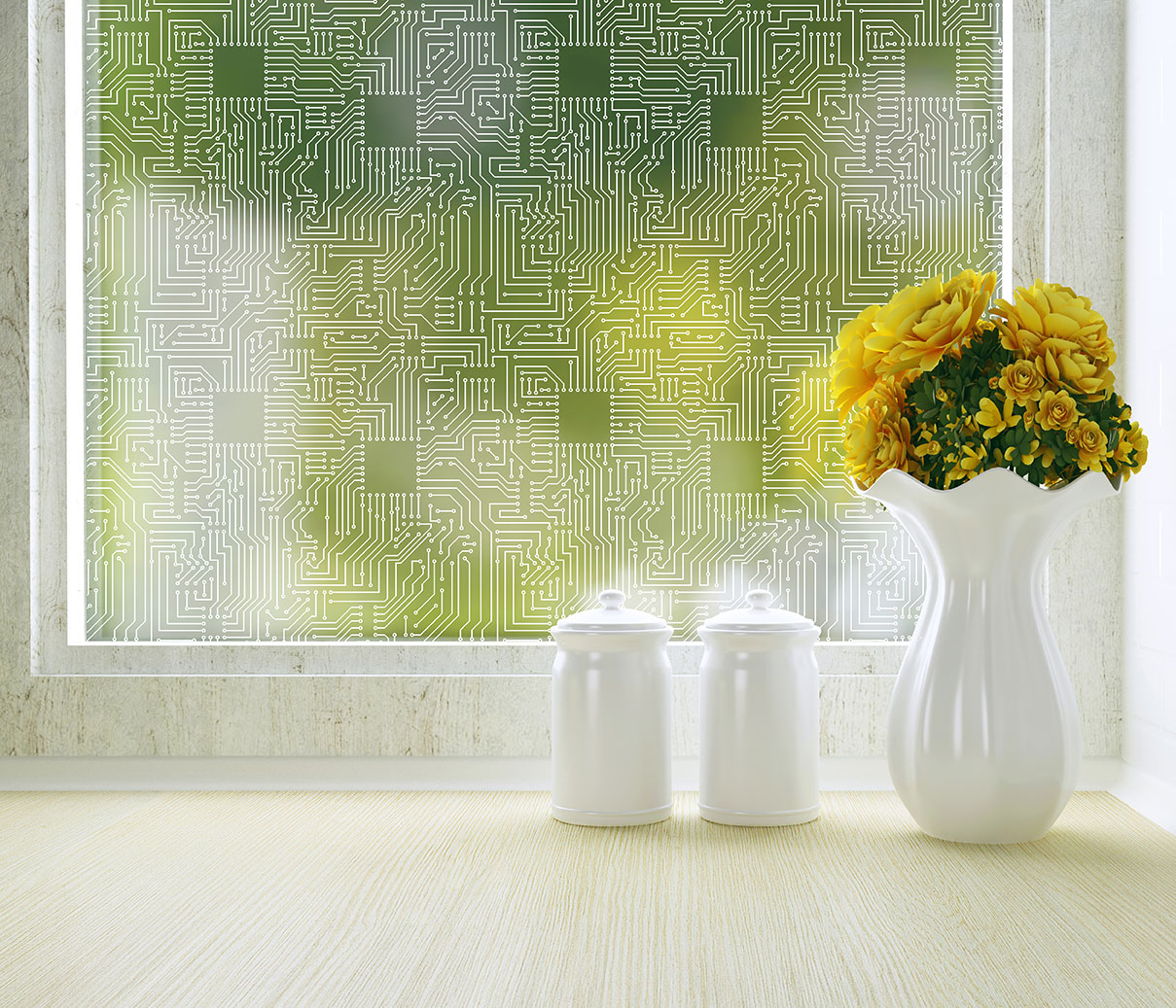 Translucent Window Film Short Circuit Privacy Window Film For Office Or Home Window