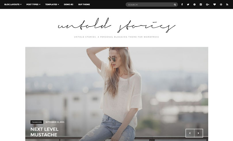15 Best WordPress Themes For Fashion Blog Of 2018 - Modern WP Themes - fashion blogger templates