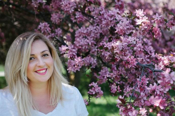 Chantal 2 Ottawa Fashion Blog Curvy Plus-Size photos lincoln fields cherry blossom pink trees