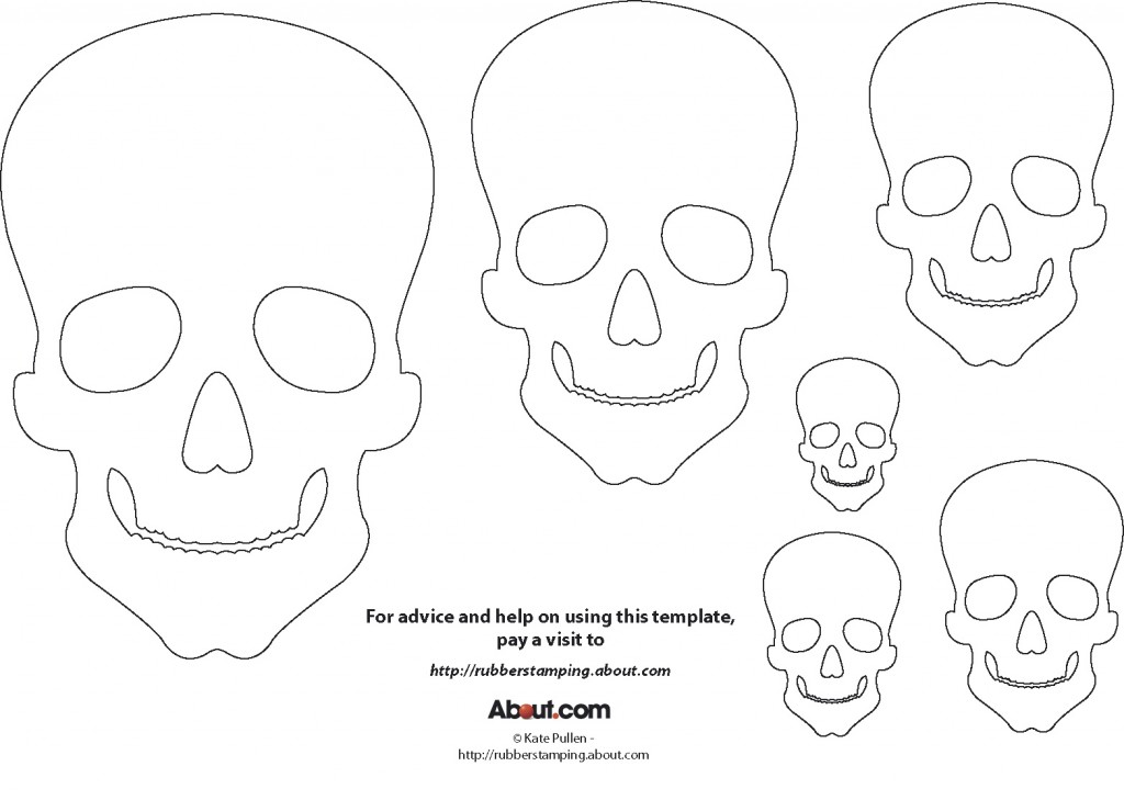 printable skulls for day of the dead \u2013 M O D F R U G A L