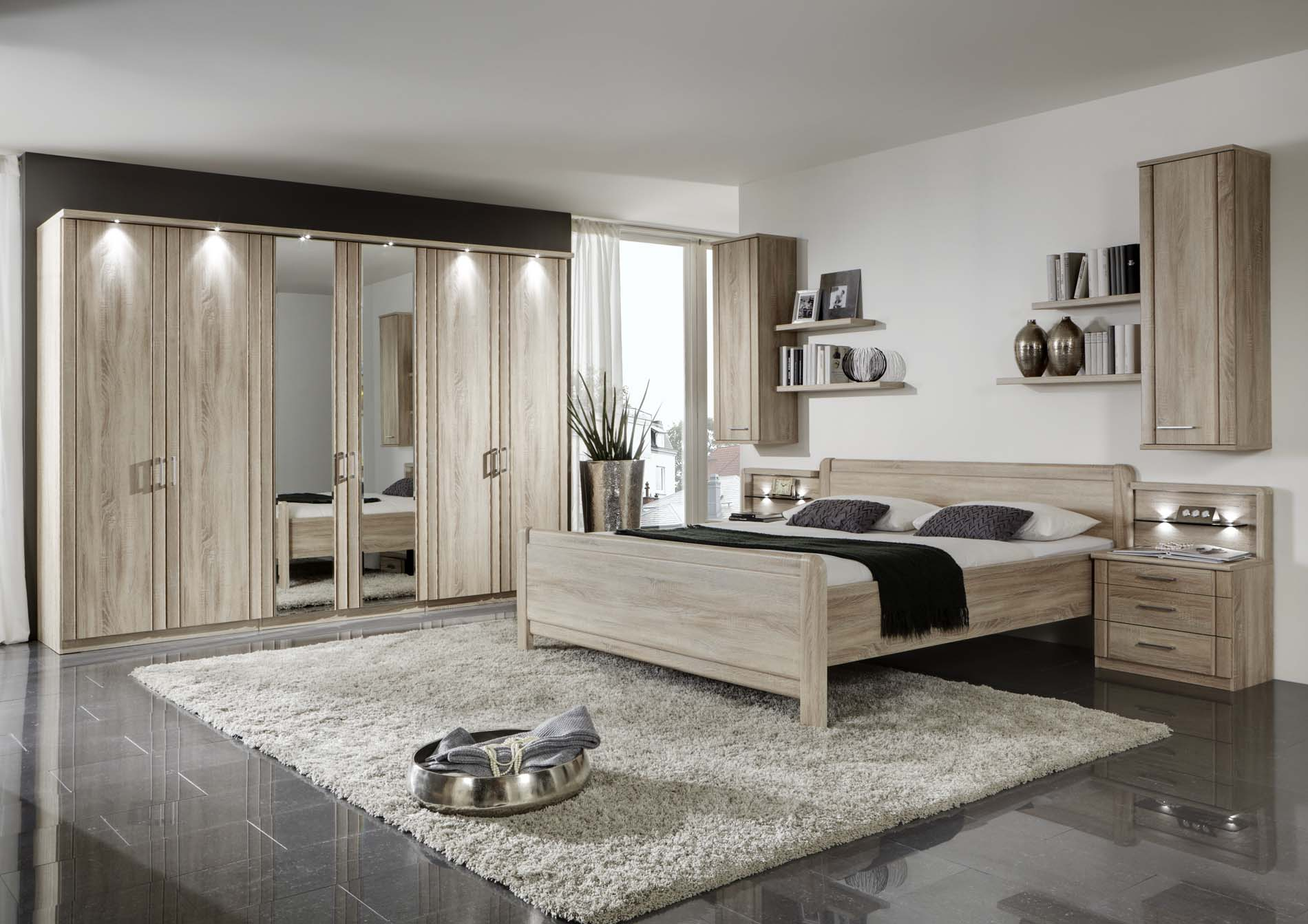 Chambre à Coucher Blida Wiemann Valencia Bedroom Set In Rustic Oak Modish Furnishing