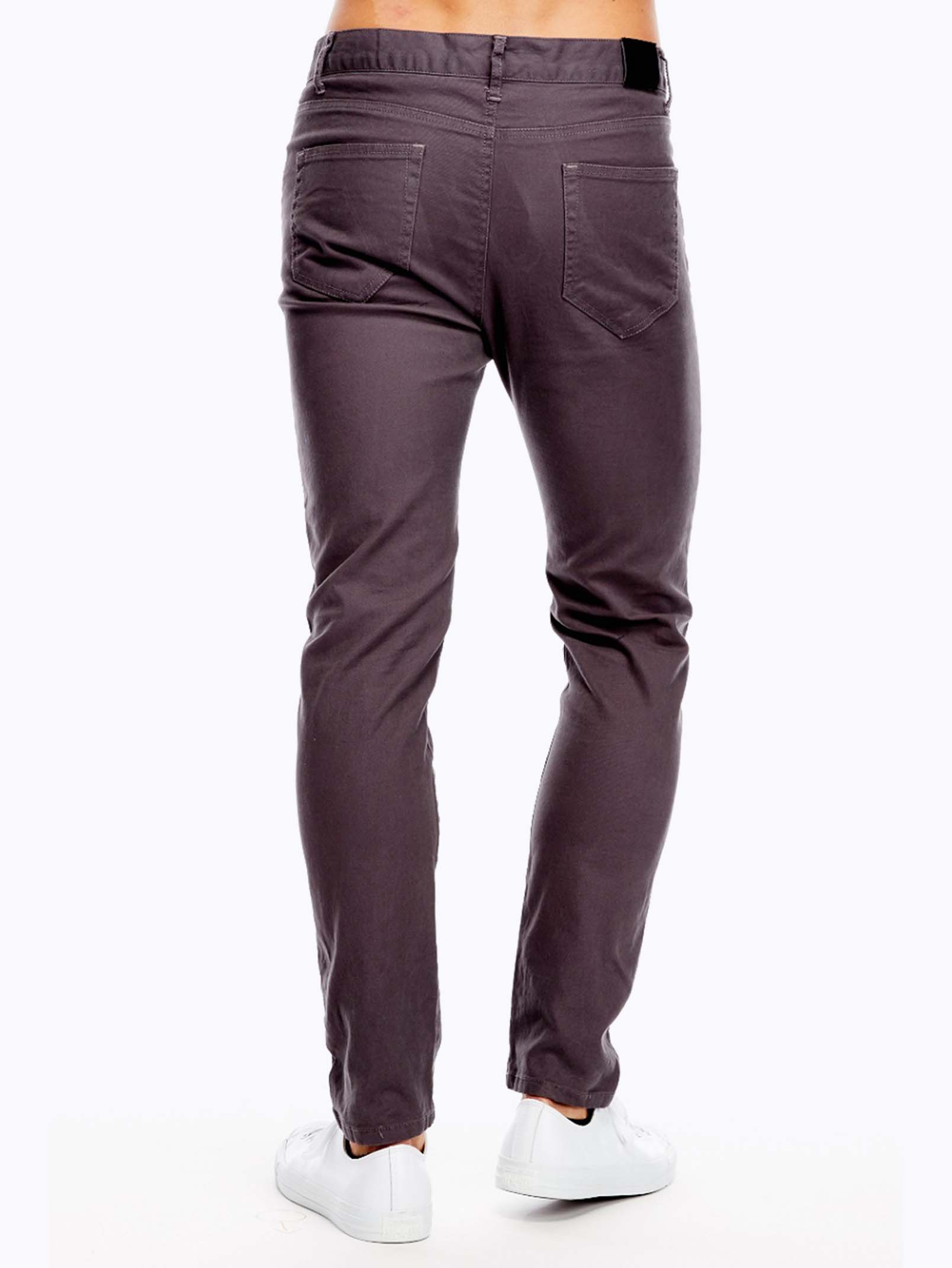 Plus Size Water Shorts Charcoal Grey Slim Fit Jeans - Modishonline.com