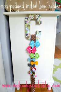 Mod Podged initial bow holder tutorial - Mod Podge Rocks