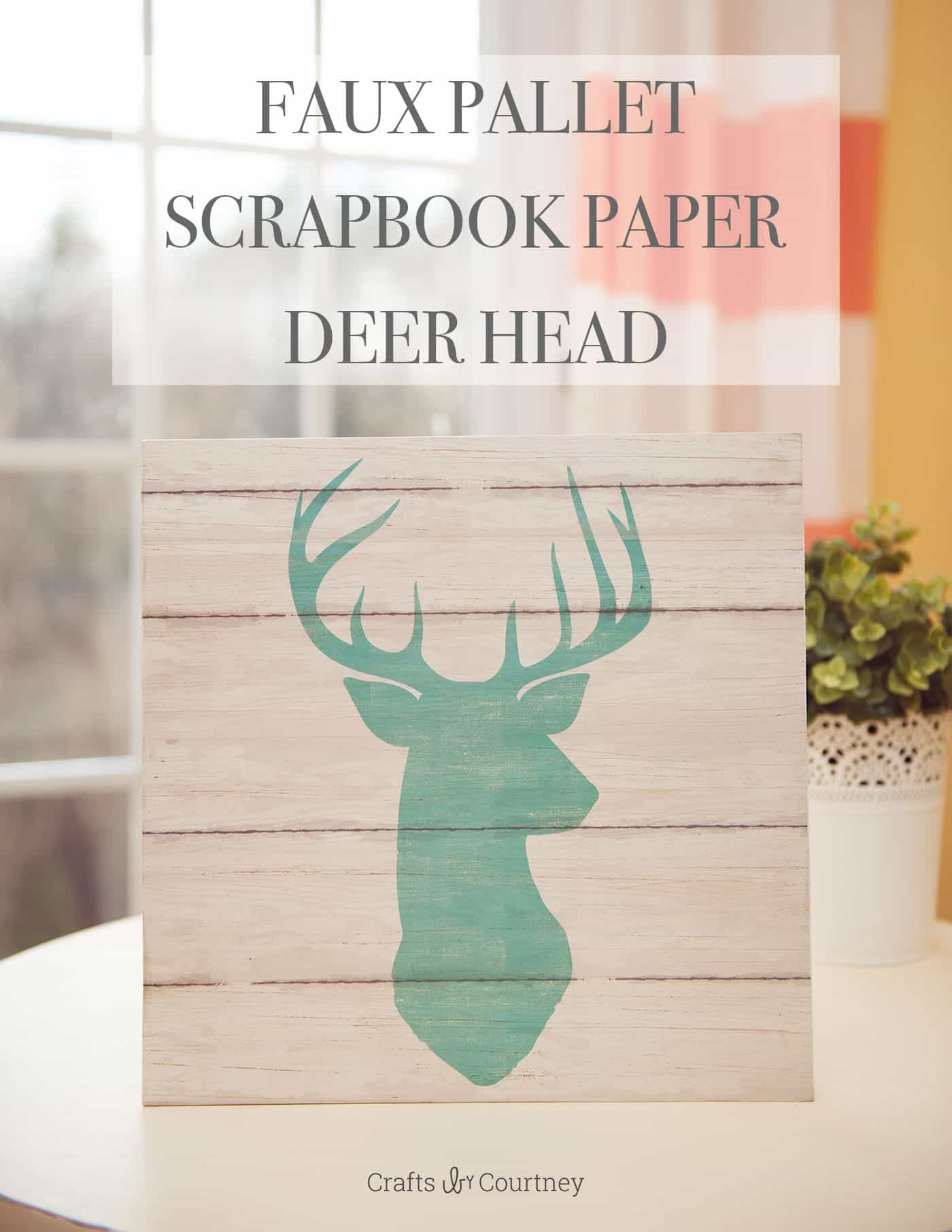 Easy DIY wall art with scrapbook paper