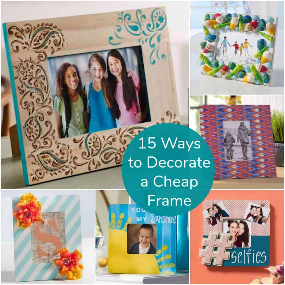 How To Frame Pictures 15 Ways To Decorate Cheap Wooden Picture Frames Mod Podge Rocks