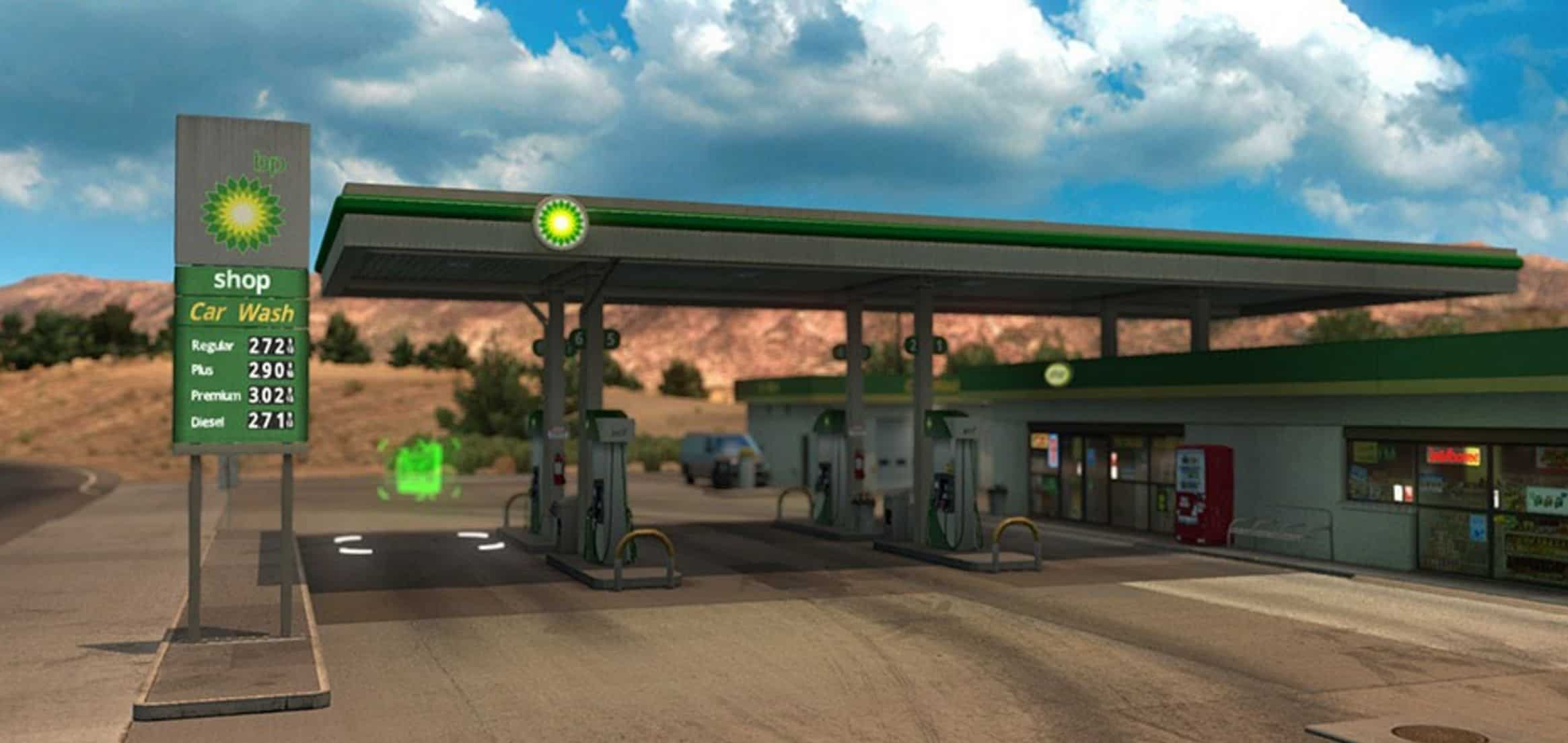 Gasoline Stations Real Gas Stations V 1 For Ats American Truck Simulator