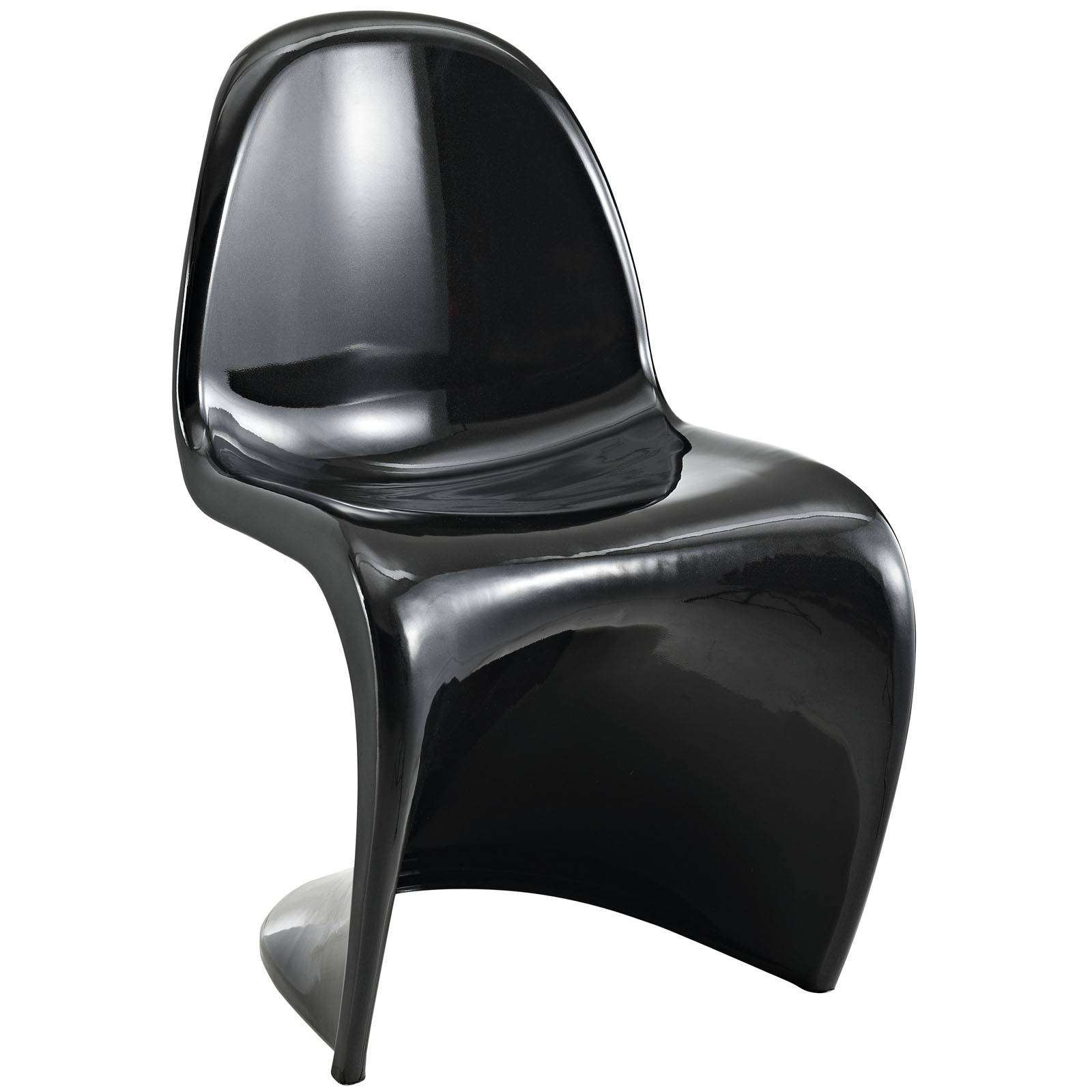 Black And White Bar Stools Verner Panton Style Chair