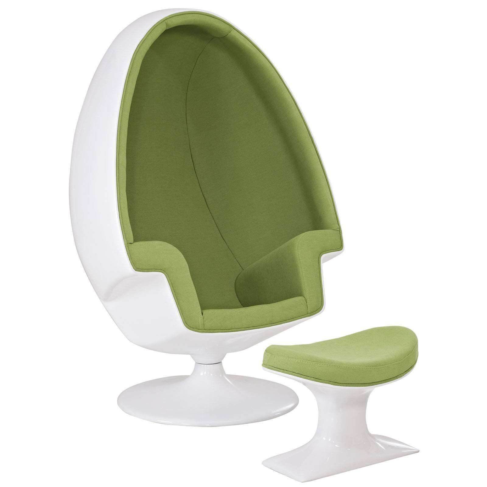 Philippe Starck Chaise Eero Aarnio Alpha Shell Egg Chair & Ottoman