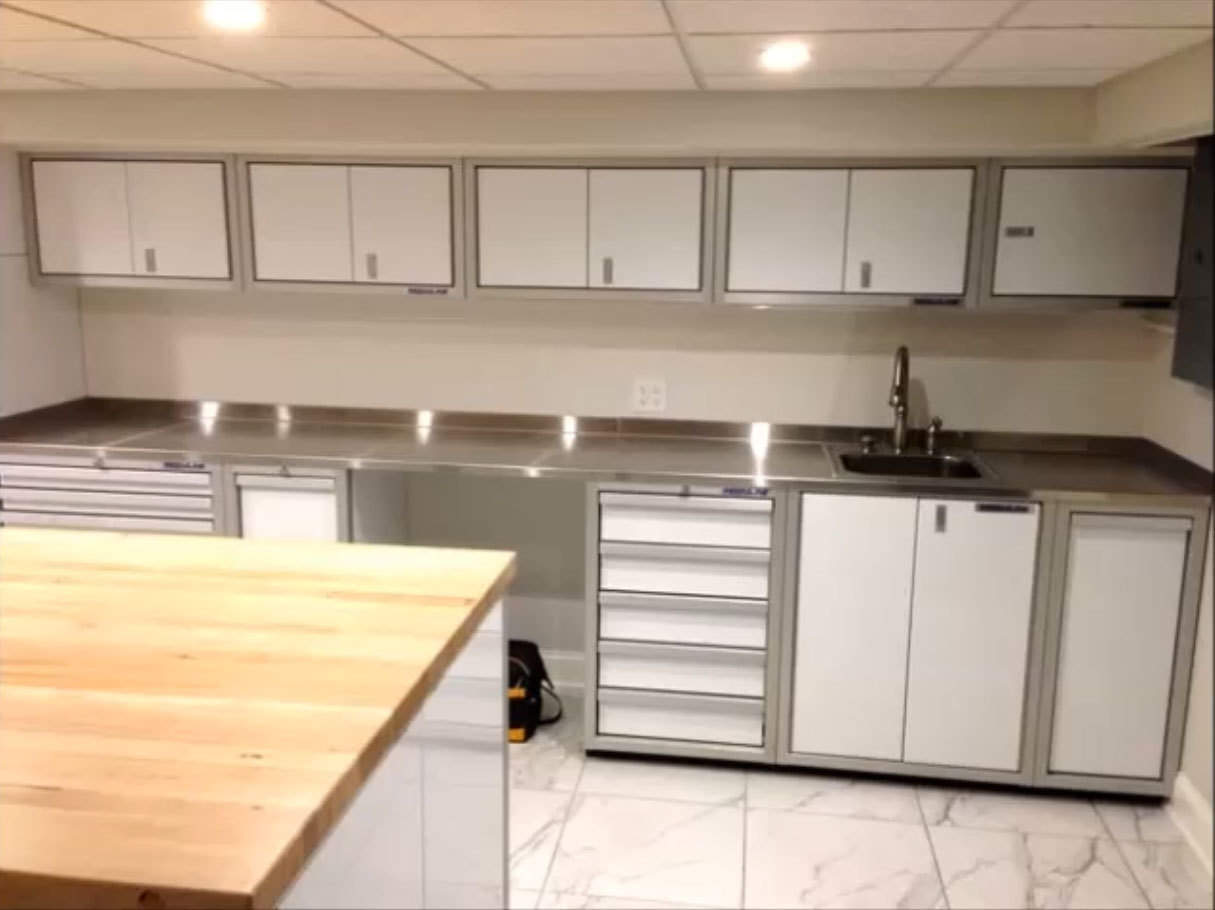 Workshop Countertop Proii Stainless Steel Garage Countertops Moduline
