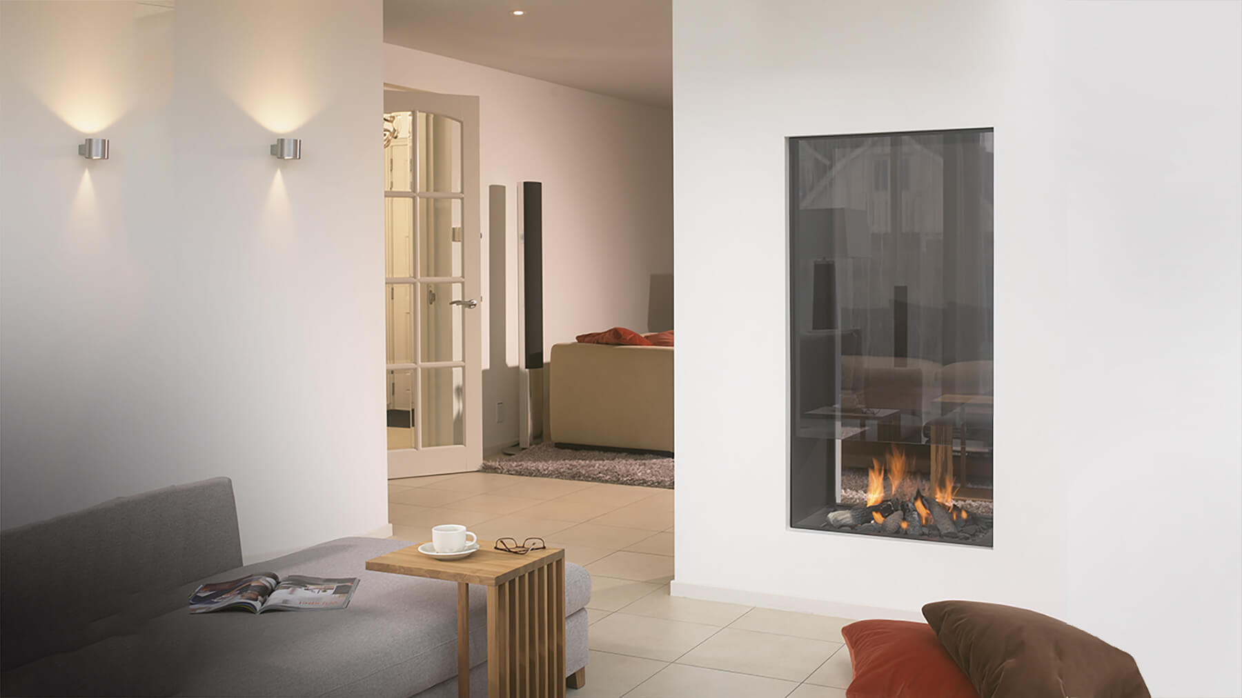 Two Sided Indoor Outdoor Gas Fireplace Double Sided Indoor Outdoor Gas Fireplace