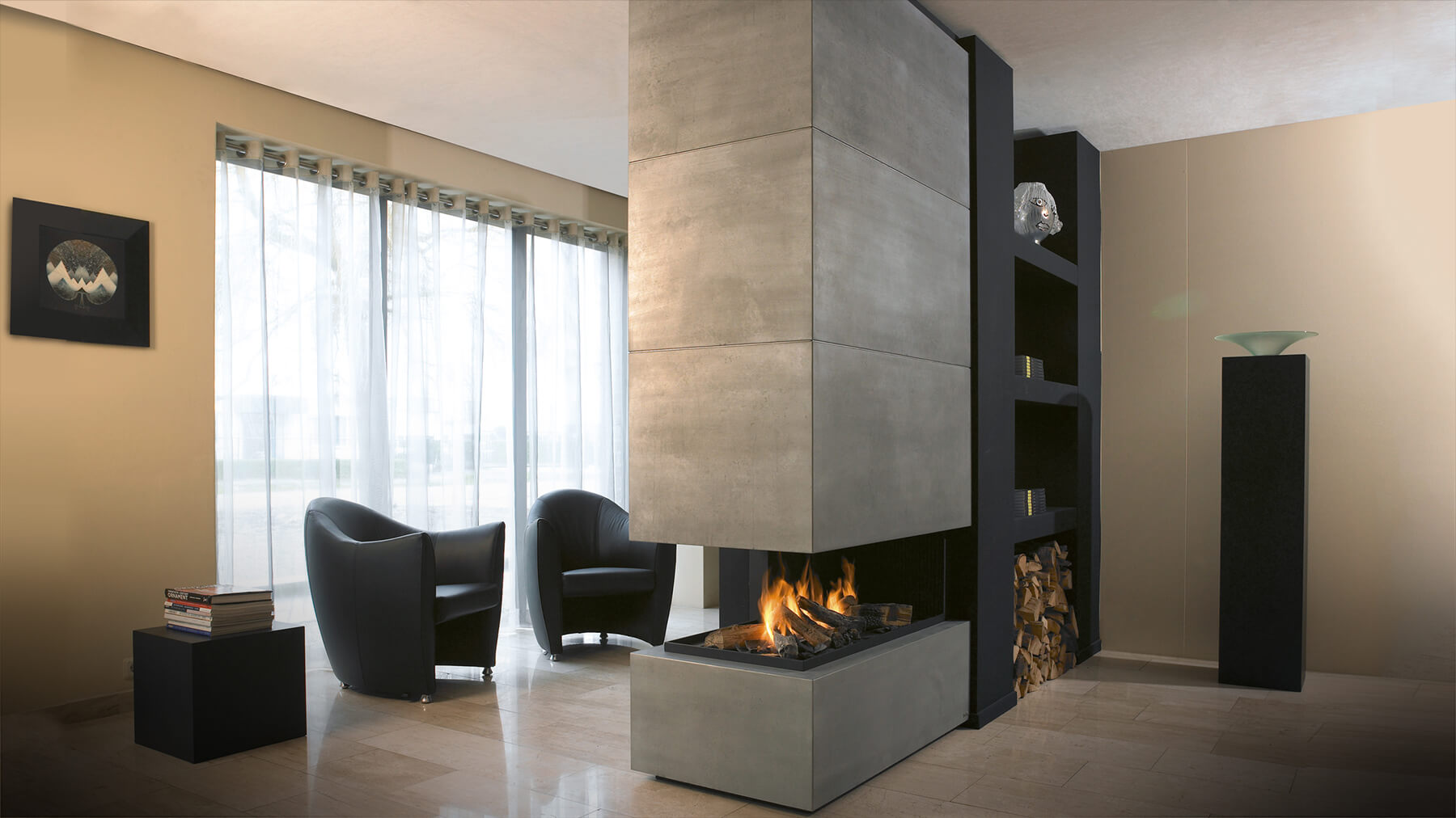 Modern Fireplaces Suspended Fireplace I Hanging Fireplace