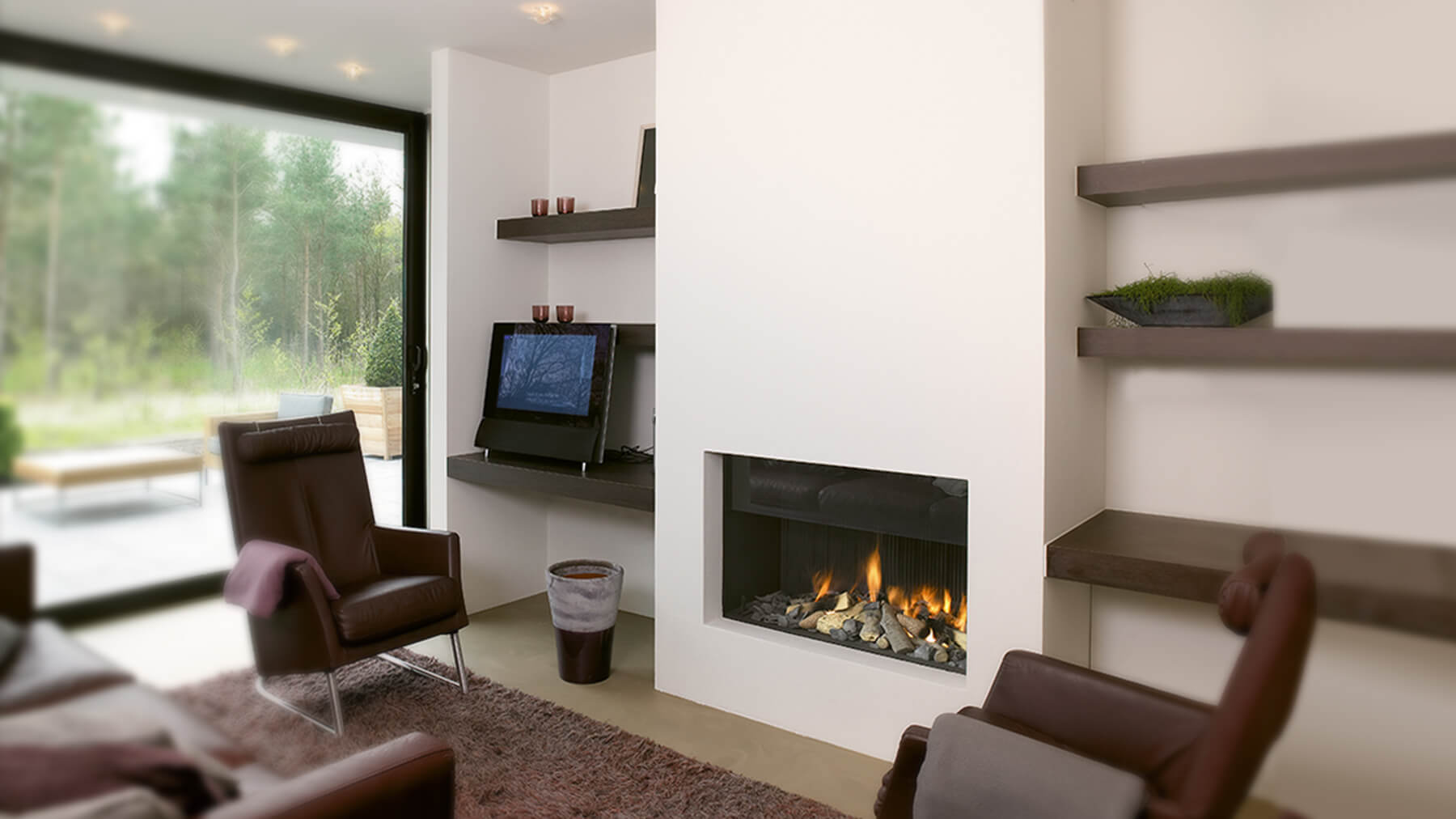 Modern Fireplaces Hole In The Wall Fireplace I Contemporary Fireplaces