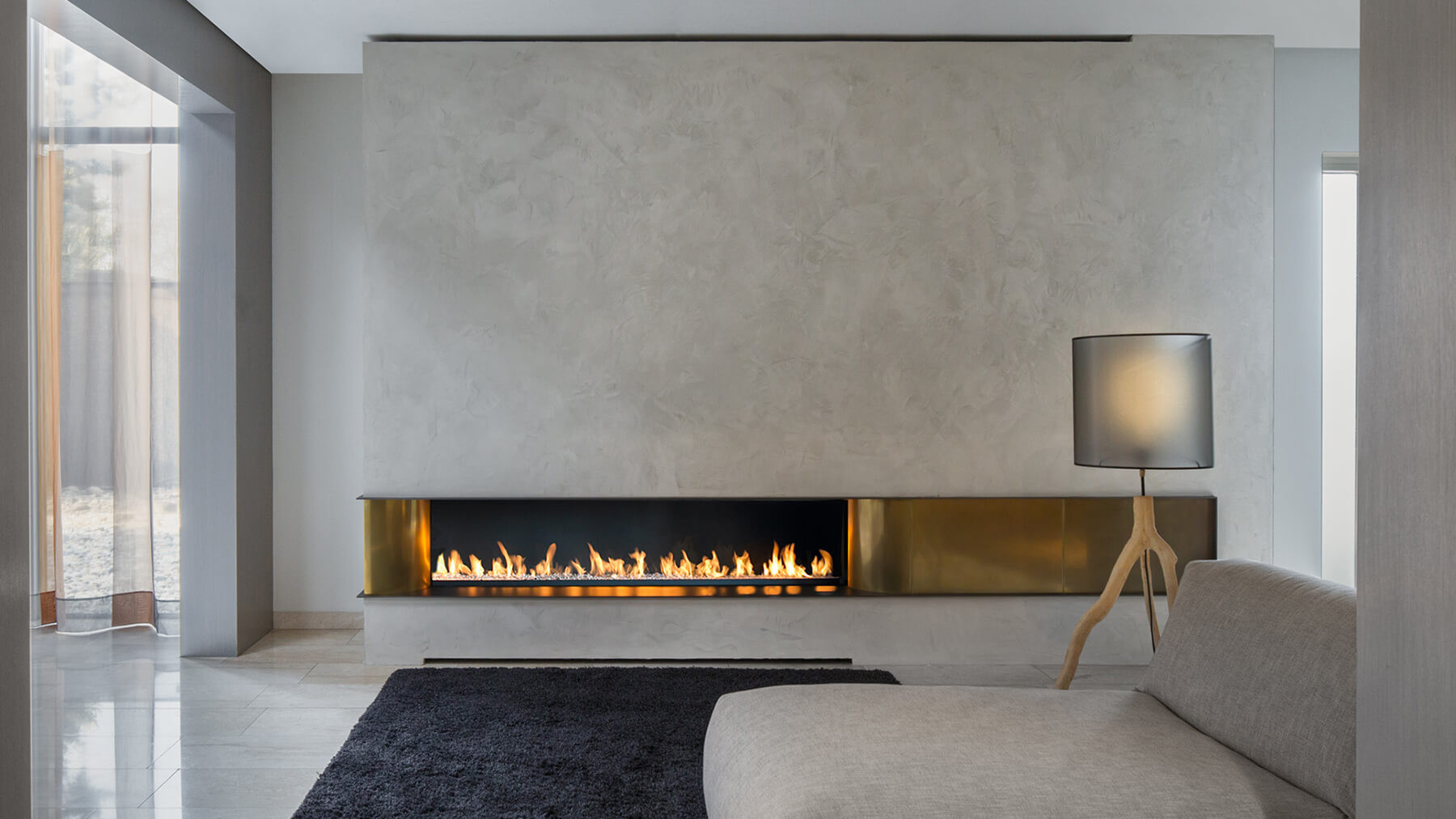 2000 Copper Modern Fireplace I Modus Fireplaces