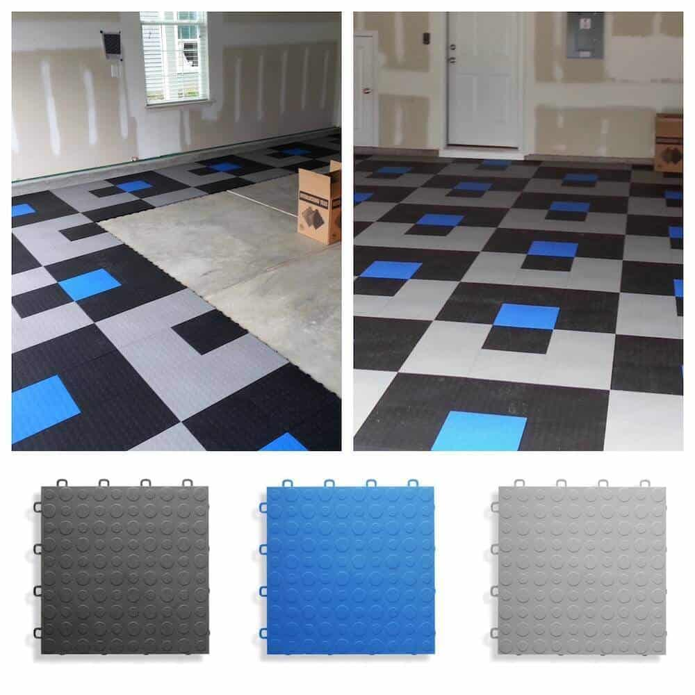 Garage Floor Tiles That Drain Coin Top Garage Floor Tiles Modutile Made In Usa