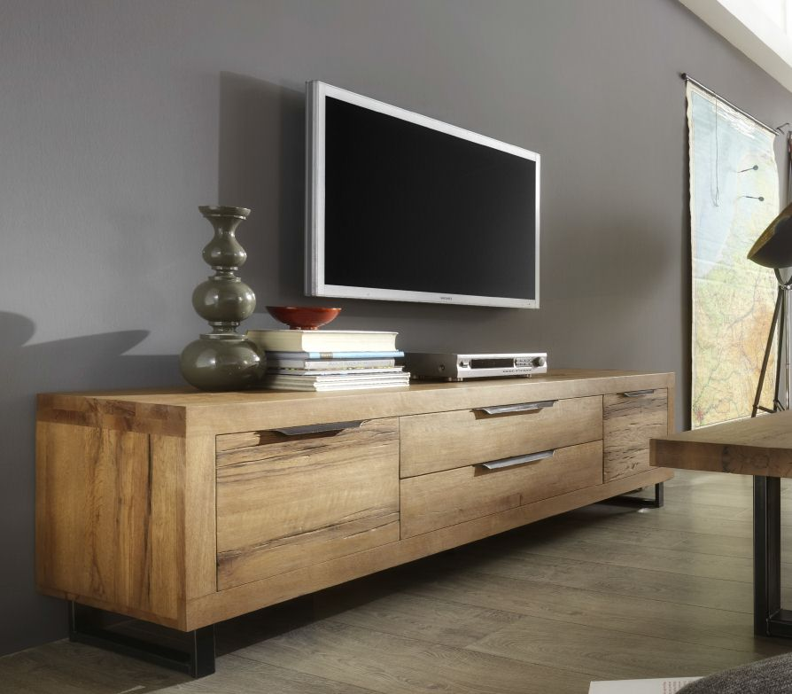 Sideboard Esszimmer Design Tv-lowboard Manhattan Balkeneiche - Dam 2000 Ltd. & Co Kg