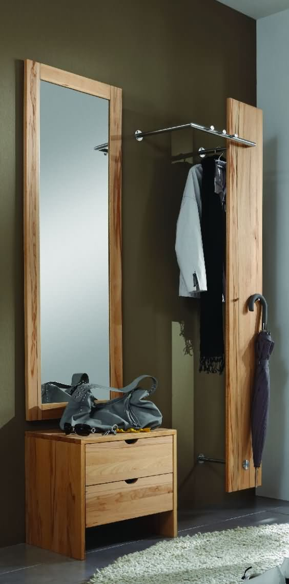 Design Fernsehsessel Garderobe, Kernbuche, Wildeiche - Dam 2000 Ltd. & Co Kg