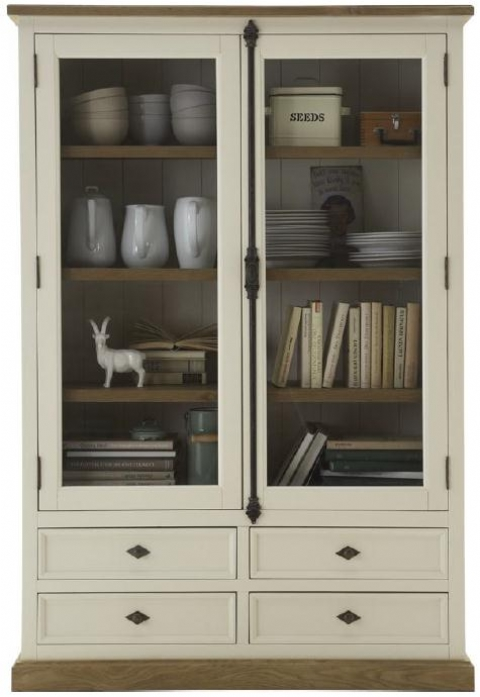 Highboard Eiche Massiv Highboard-vitrine, Urbano, Pinie/eiche Massiv - Dam 2000