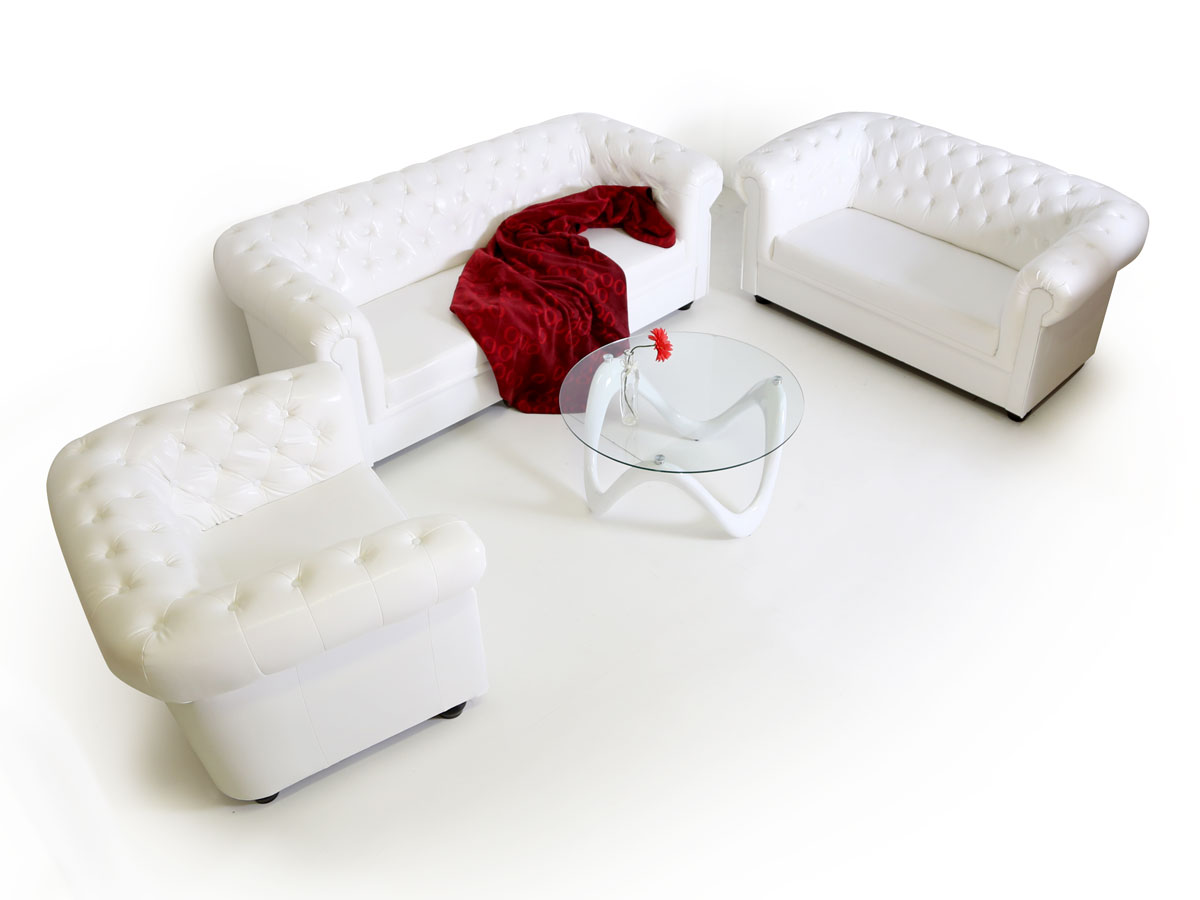 Sofagarnitur 3 2 1 Chesterfield 3 2 1 Sofagarnitur Weiss