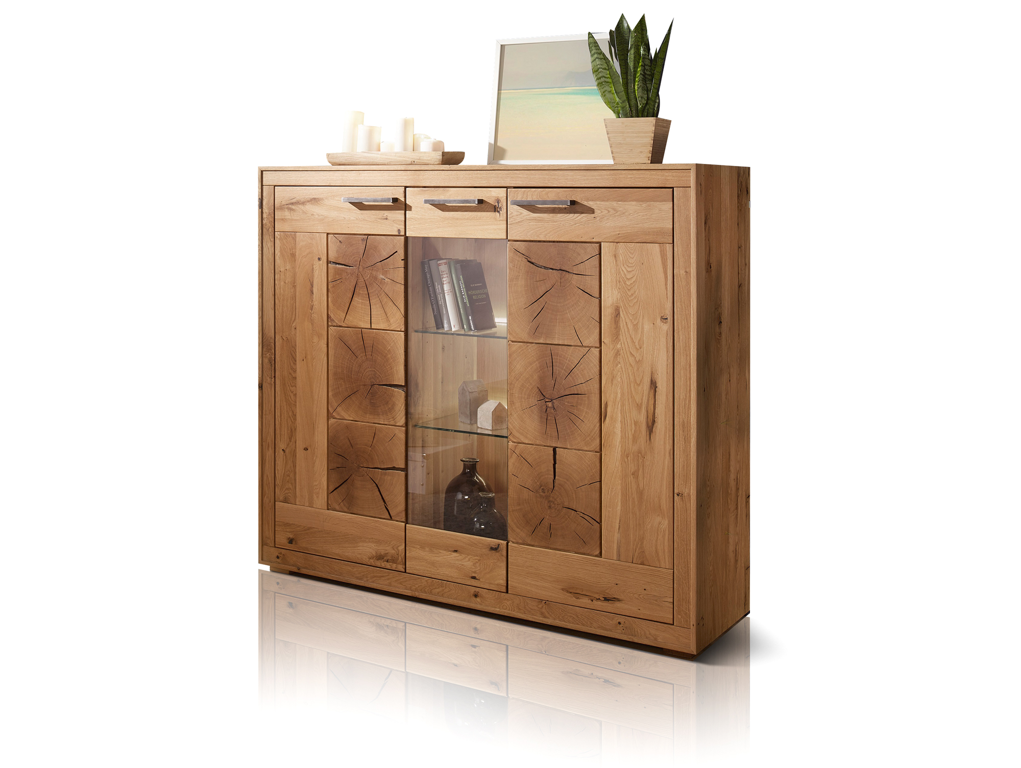 Sideboard Wildeiche Massiv Winston Ii Highboard Wildeiche Geölt