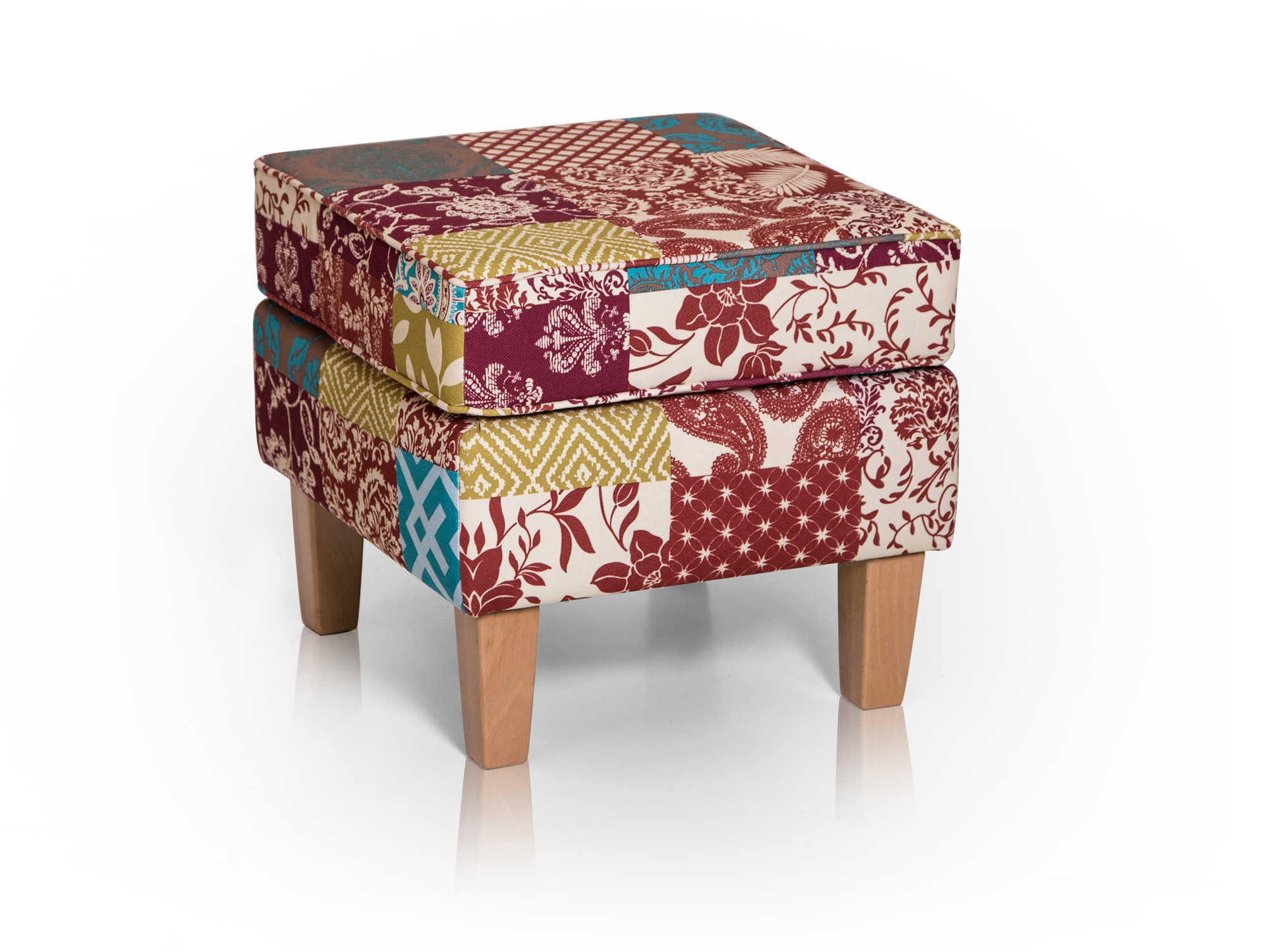 Patchwork Ohrensessel Mit Hocker Willy Ohrensessel 43 Hocker Patchwork Bunt