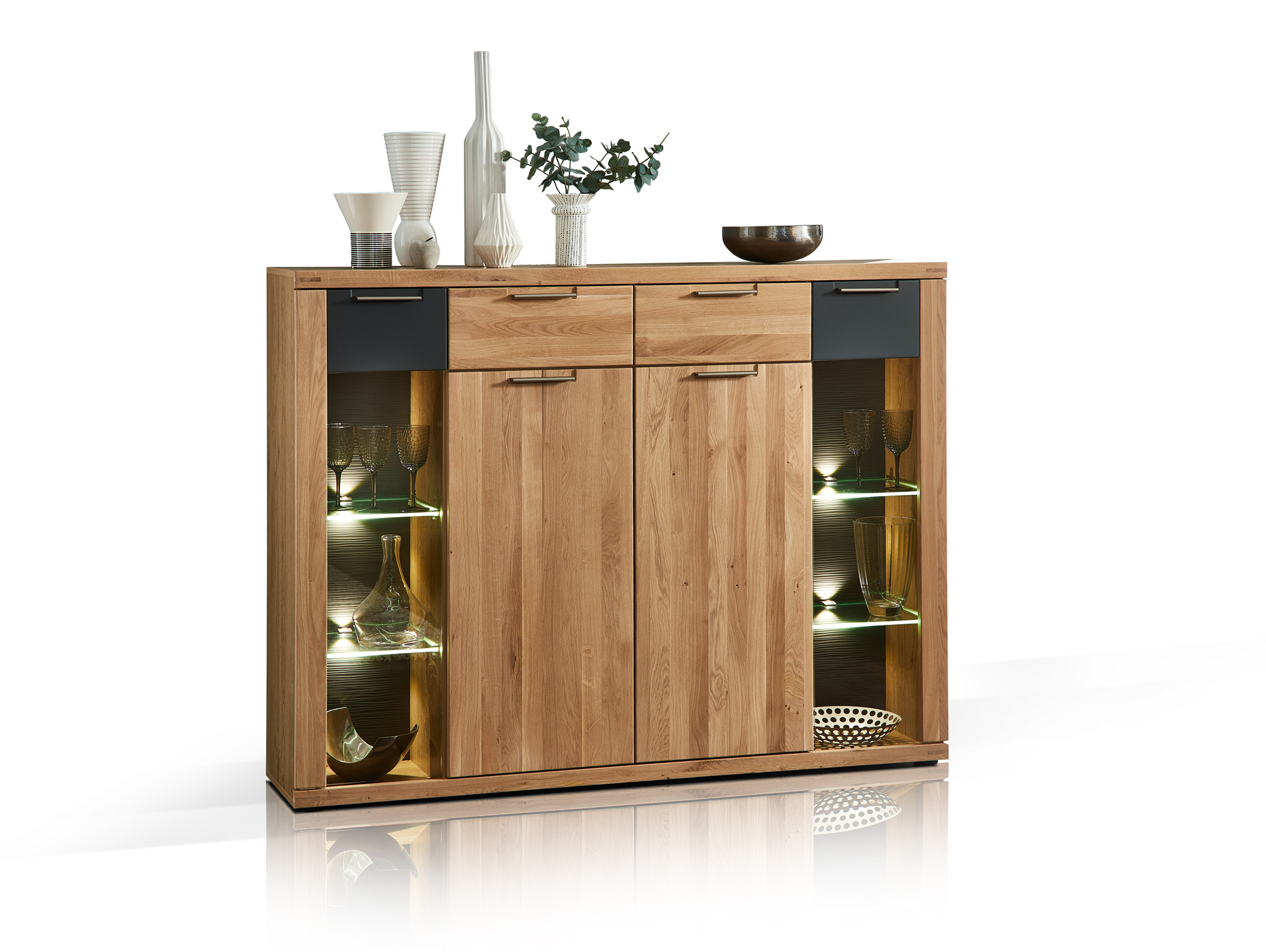 Sideboard Wildeiche Massiv Bianca Highboard Wildeiche Massiv Teilmassiv