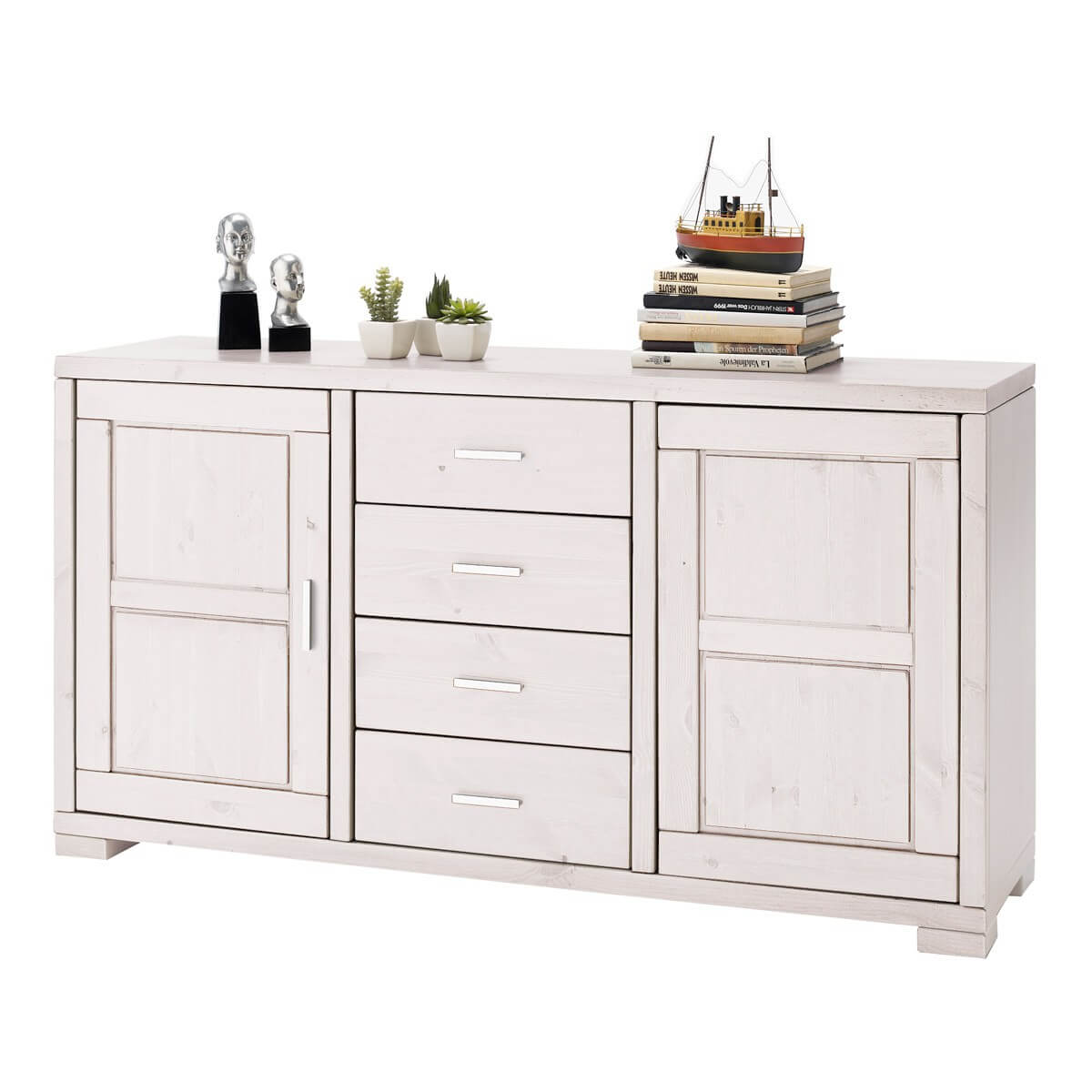 Esszimmerschränke Landhausstil Sideboard Madison In Kiefer Massivholz Weiß