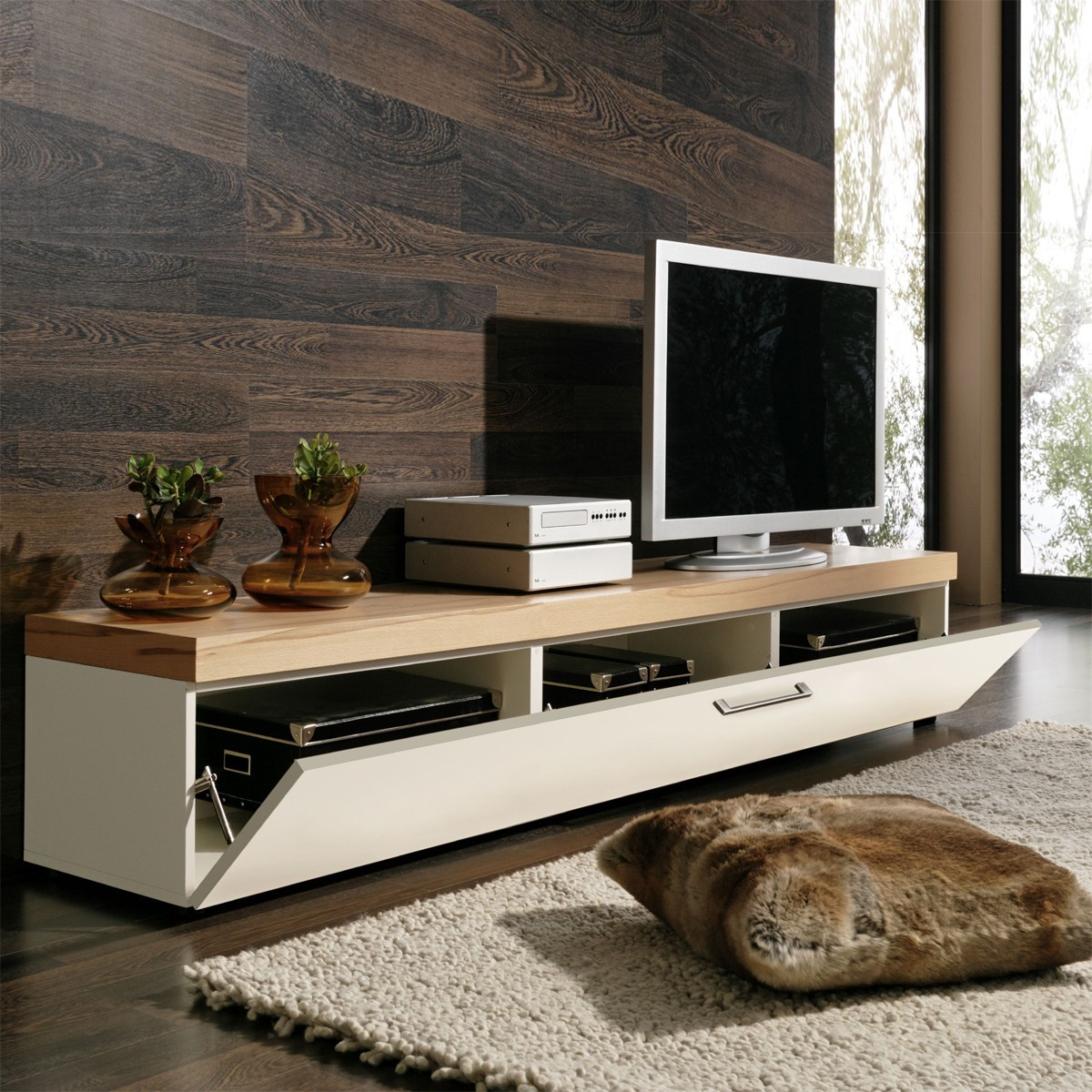 Tv Board Lowboard Lowboard Tv Lowboard Tv Board Tv Rack In Kernbuche Und