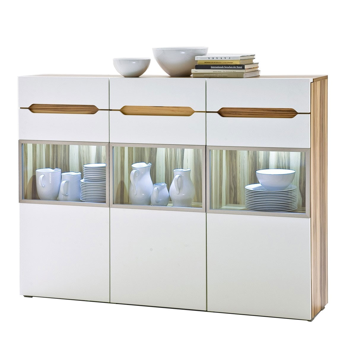 Baltimore Walnuss Kommode Highboard Schrank Kommode In Creme Weiß Baltimore