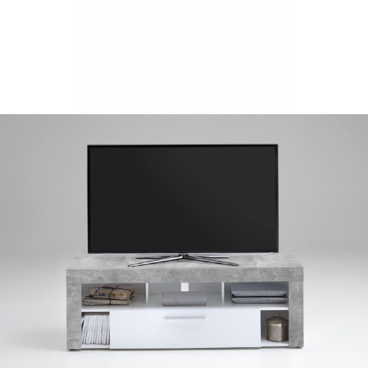 tv lowboard vibio 1 beton weiss