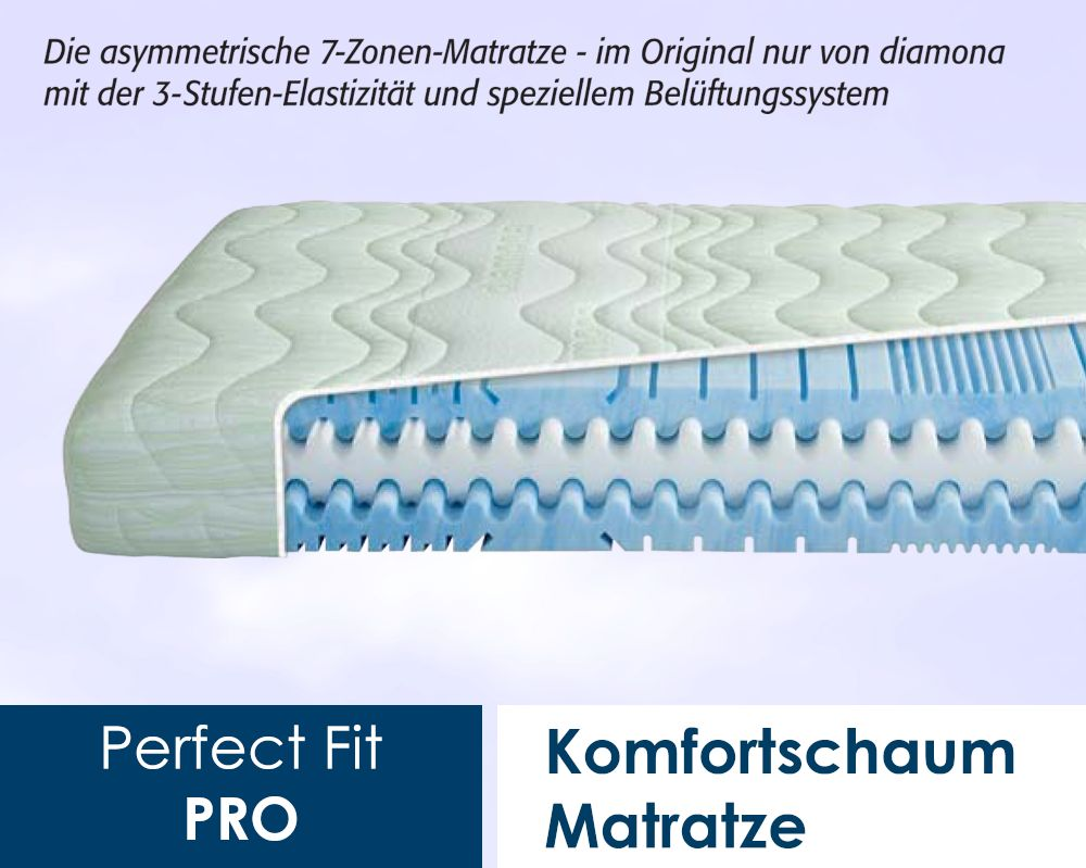 Matratzentopper 160x200 Diamona Perfect Fit Pro Kaltschaum-matratzen - Bestellen