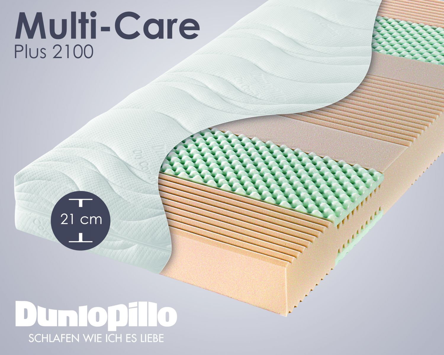 Matratzenschoner Sinnvoll Dunlopillo Multi Care Plus 2100 Kaltschaum Matratzen