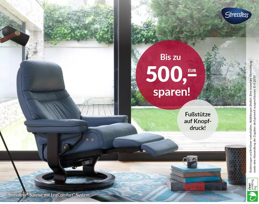 Stressless Sessel Inkl. Hocker Modell Sunrise (m) Classic Stressless Sessel In Leder Möbel Schulze Rödental Ilmenau