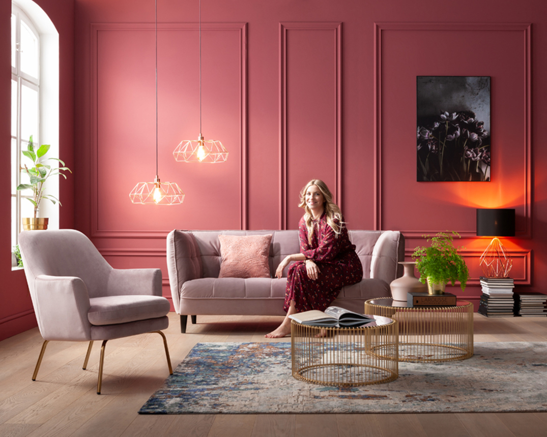 2 5 Sitzer Sofa Leger Arendal In Dusty Rose Sofas Möbel Turflon Online Shop