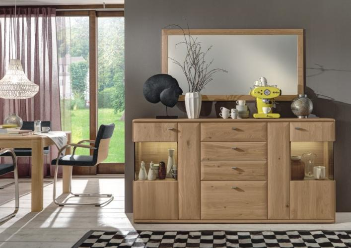 Couchtisch Bari Wöstmann Highboard Bari 3000, Wildeiche Massiv, Soft