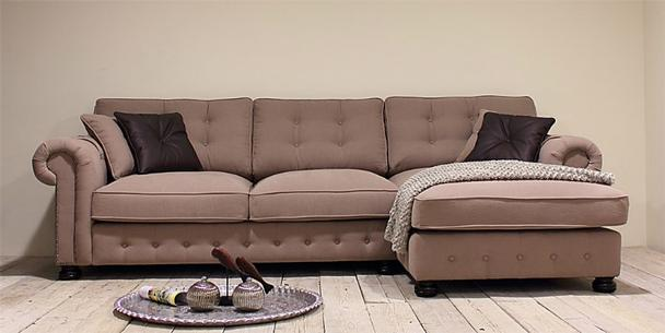 Couch Chesterfield Lounge Sofa Ecke Landhaus Stil Couch Sitzecke L-form
