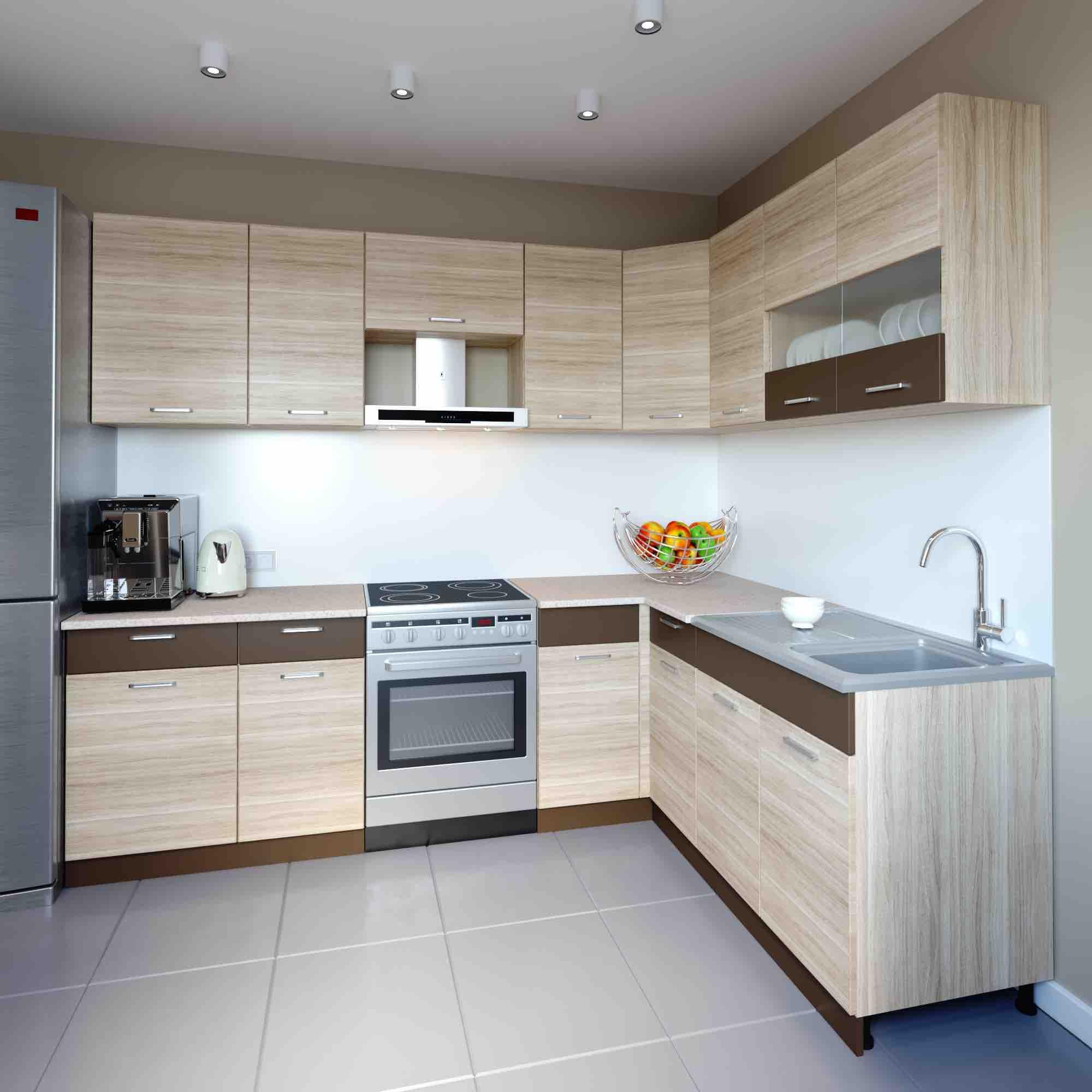 L Küche 250 Cm | Küchenzeile Küche Küchenblock Einbauküche 250 Cm ...