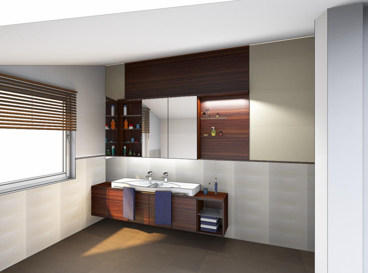 Badezimmer Creme Modell Wohndesign