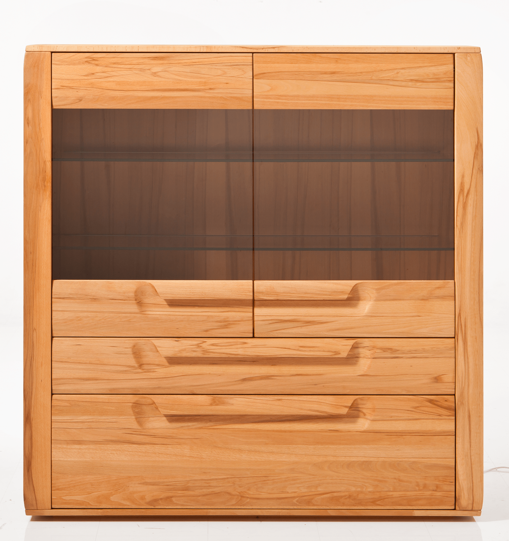 Wilhelmshaven Möbel Massives Highboard Aus Rotkernbuche Natura 4010