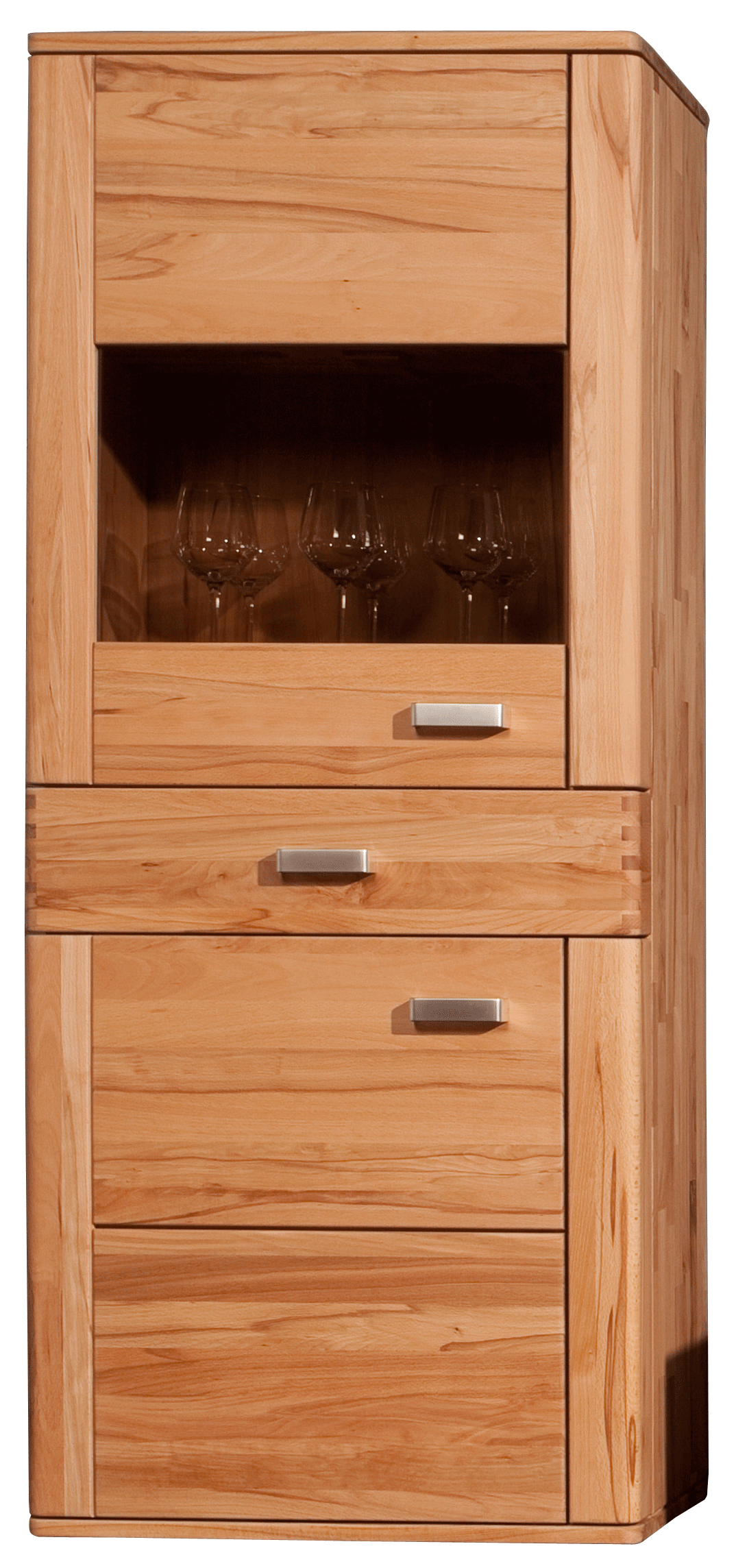 Küchen Highboard Modernes Highboard Kernbuche Massiv Natura Cartago