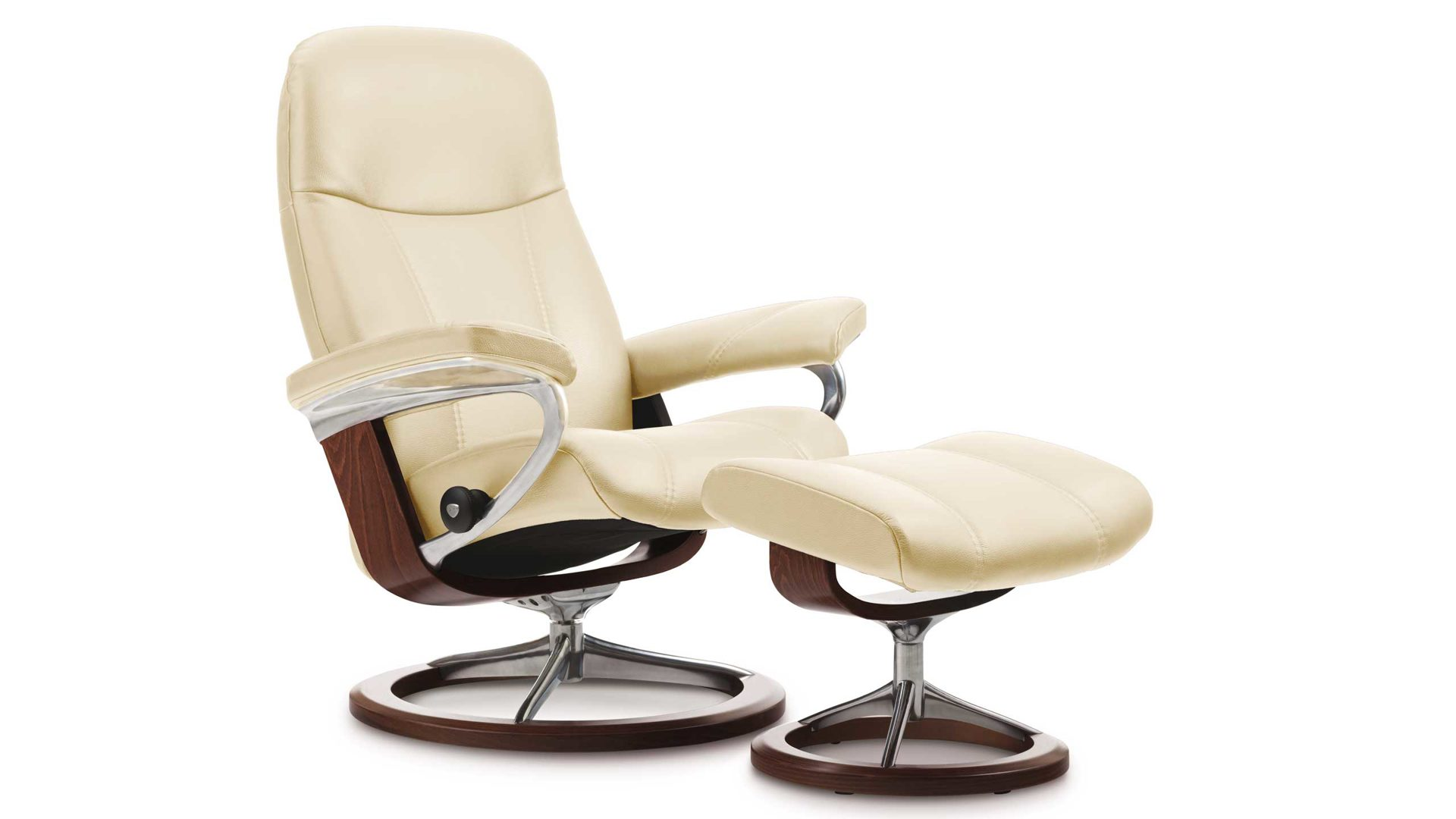 Stressless Sessel Mit Hocker Stressless Consul M Signature Relax Sessel Und Hocker Leder Medium Leder Batik 093 Cream 13 Gestell Signature Buche Braun