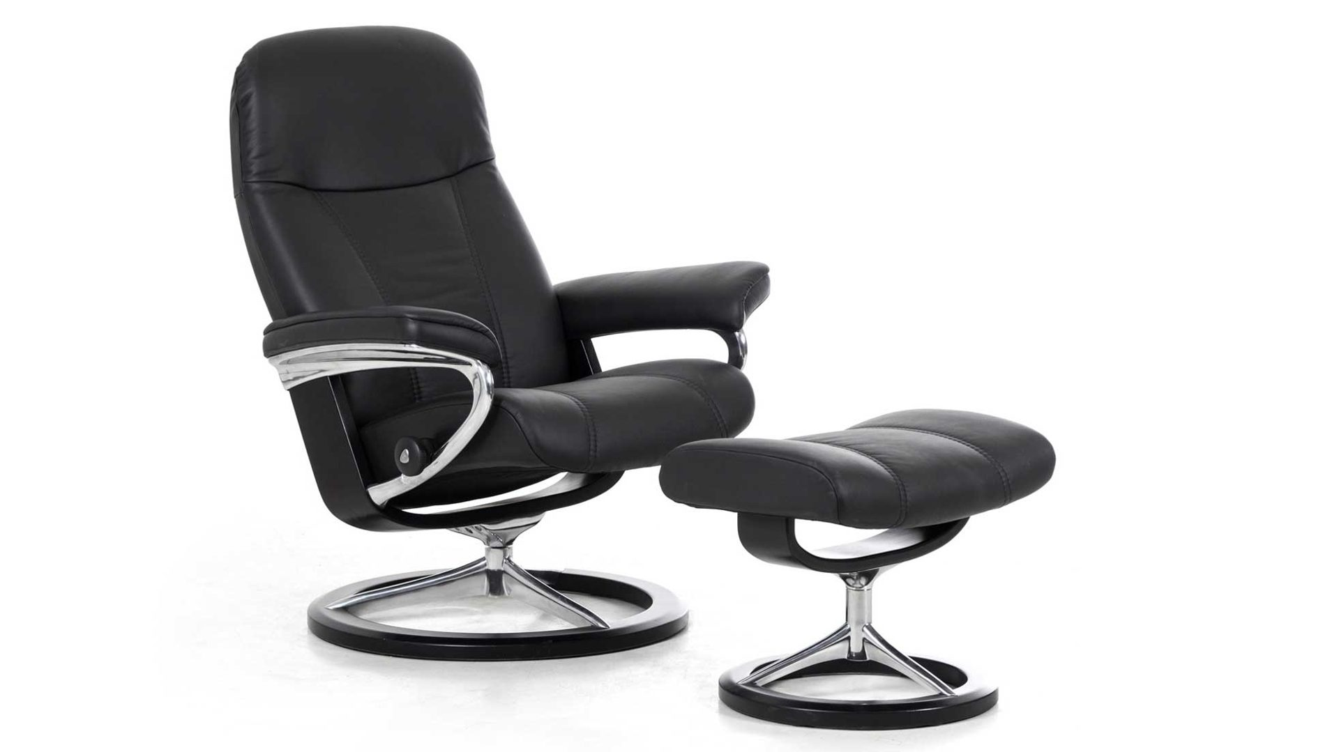 Stressless Ekornes Sessel Stressless Consul S Signature Relax Sessel Und Hocker Leder Small