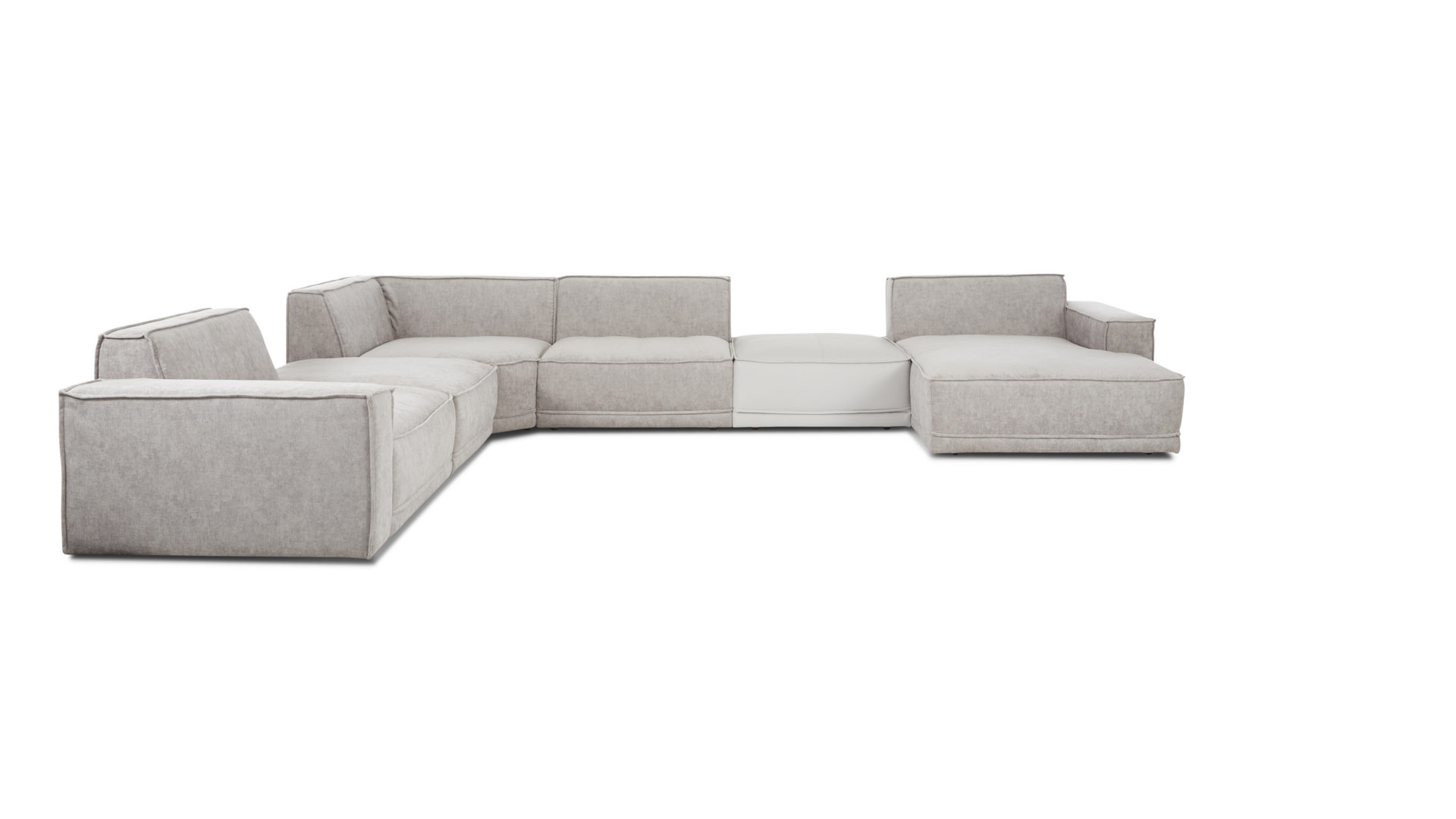 Candy Couchgarnitur Interliving Sofa Serie 4100 Wohnlandschaft Hellgrauer