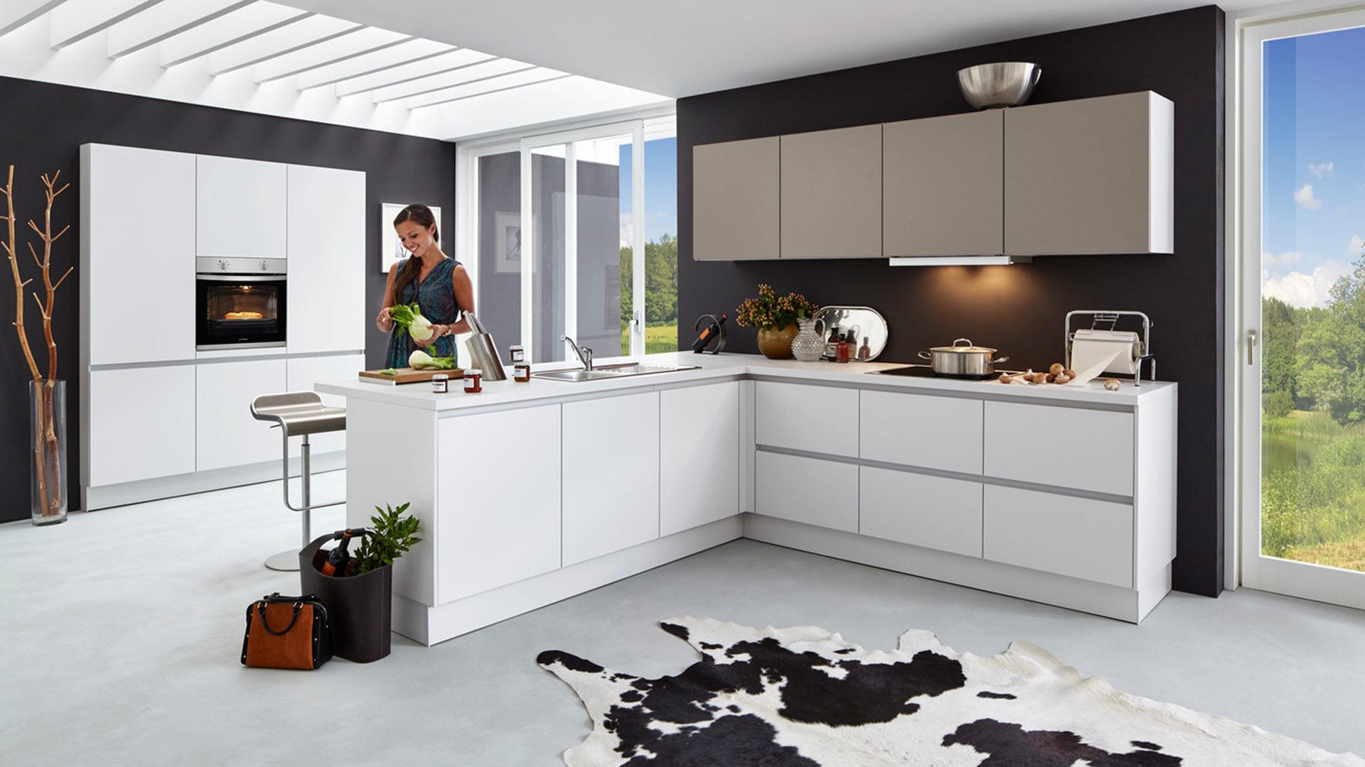 Küche Braun Holz